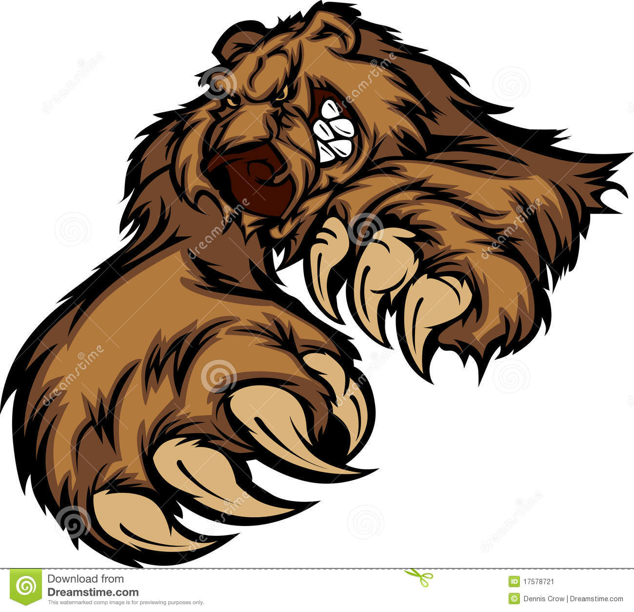 Grizzly Bear Mascot Vector Grizzly Bear Face Logo