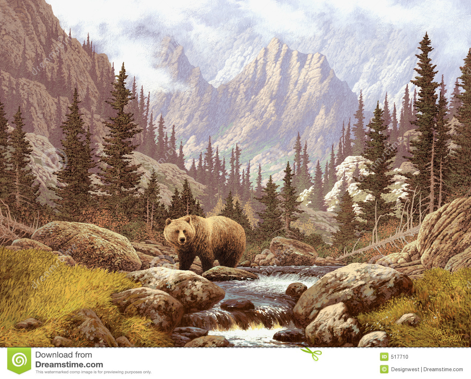 Grizzly niedźwiadkowe góry skaliste