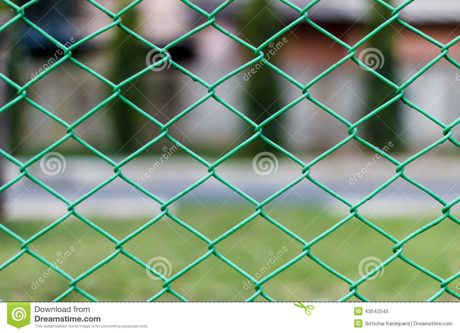 Grönt materiel för foto för staket för chain sammanlänkning för ...