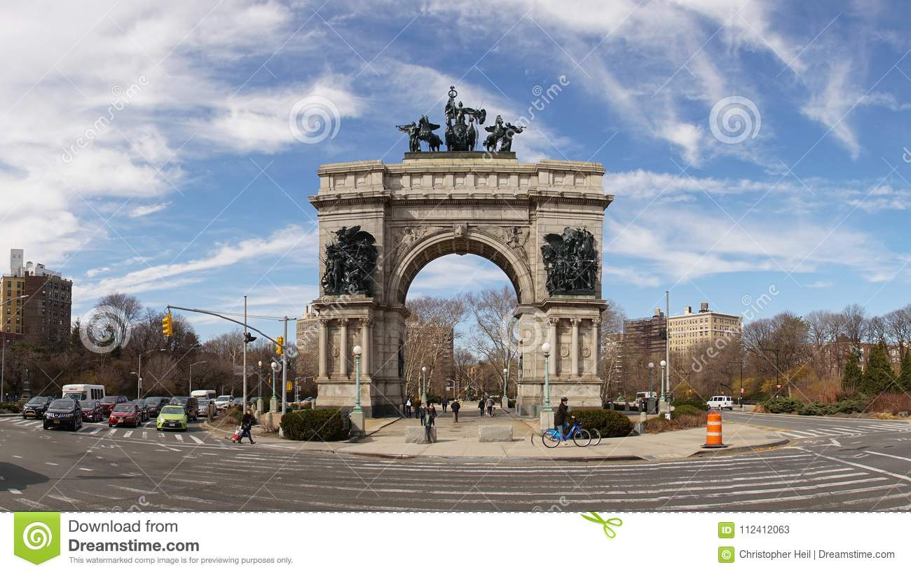 Großartige Armee Piazza Nahe Bei Aussicht Park In Brooklyn New York