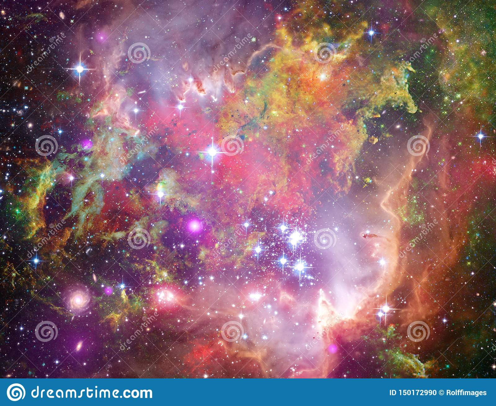 Große Babys in Rosette Nebula