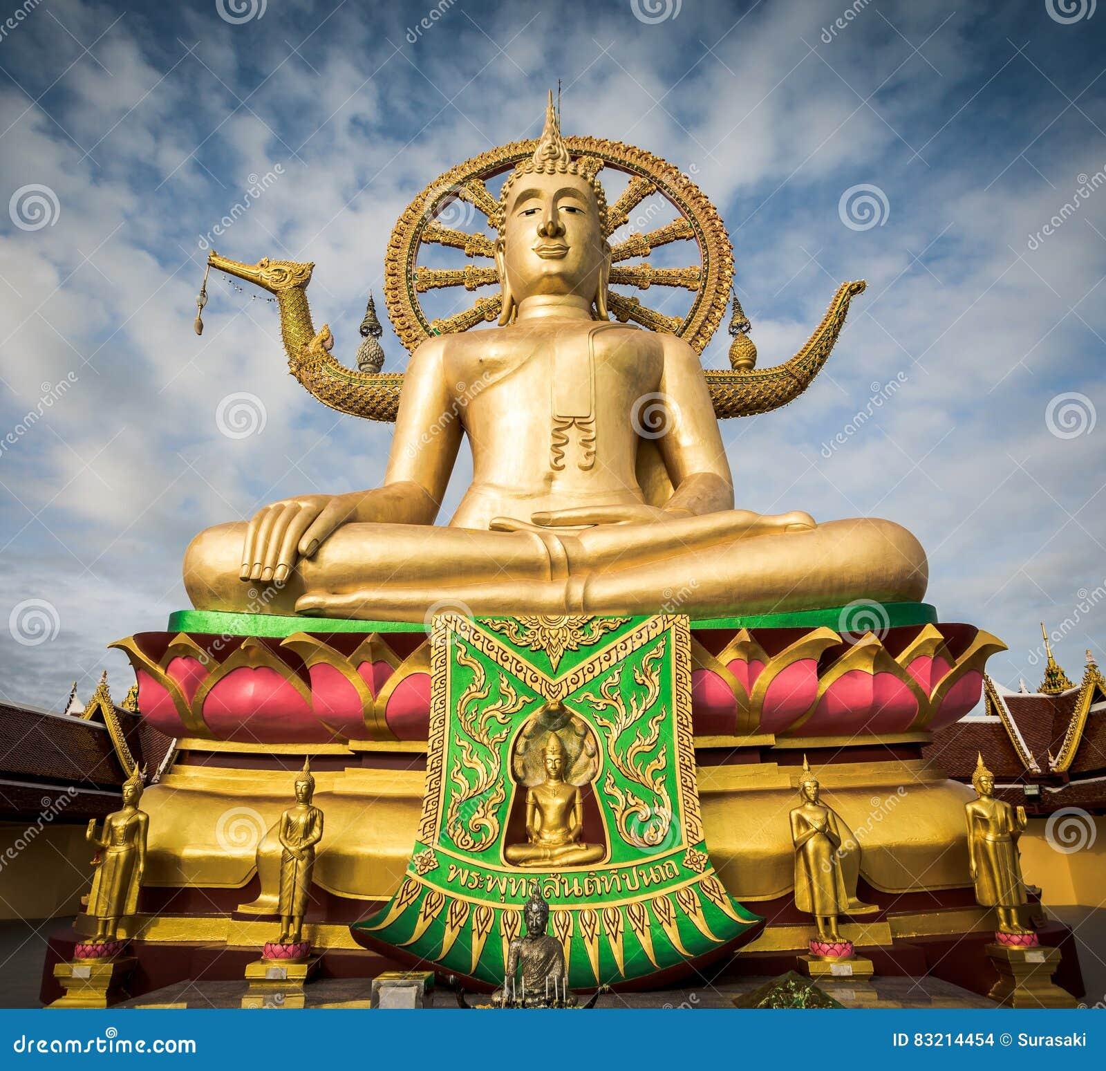 Große Buddha-Statue bei Wat Phra Yai, Koh Samui, Thailand