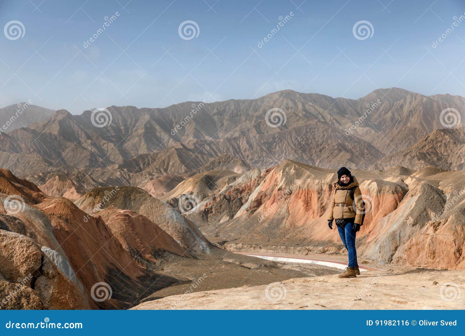 Große bunte Berge in China