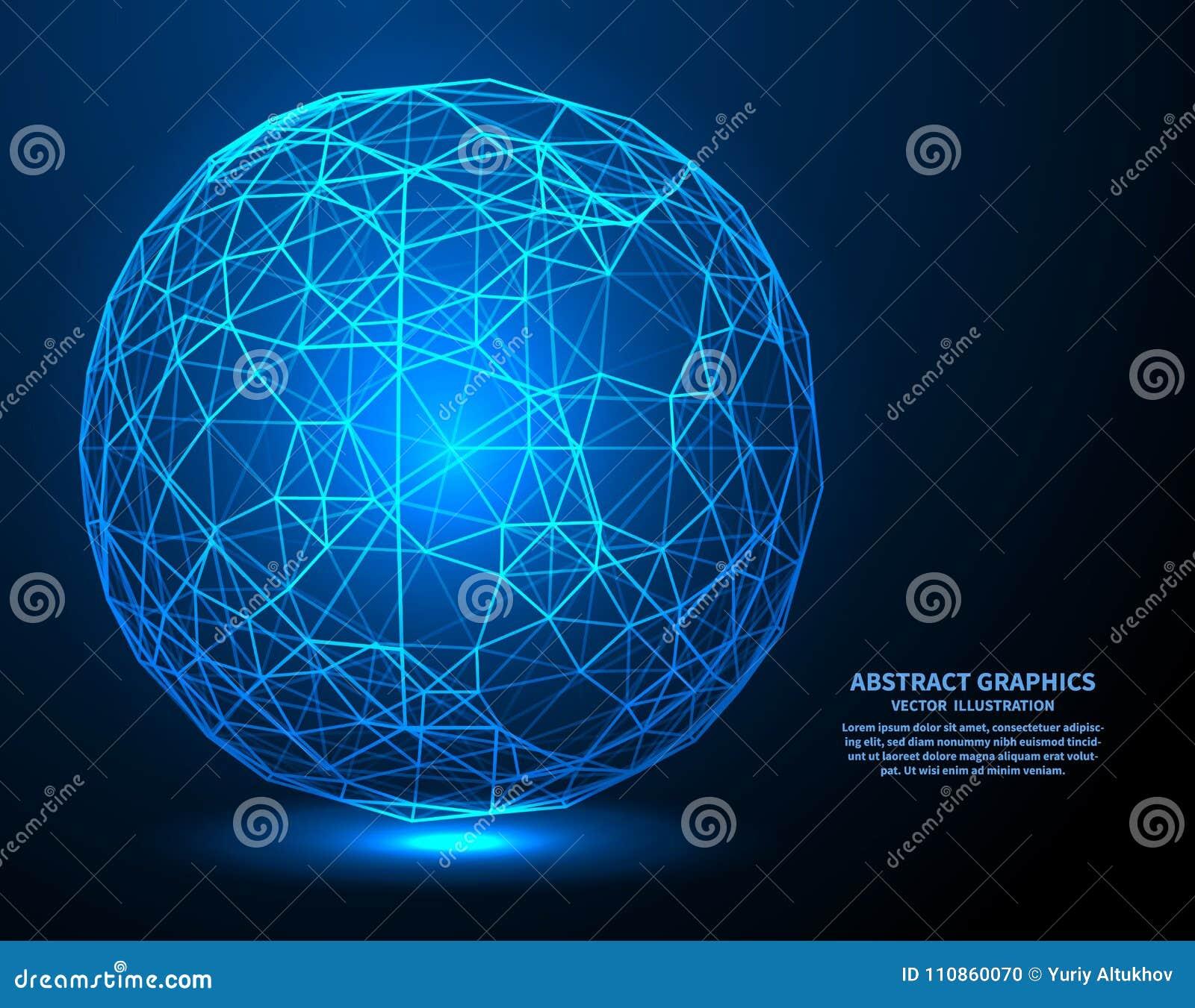 Große Daten, Vektorillustration Network Connections mit Punkten und Linien Abstrakter Technologie-Hintergrund