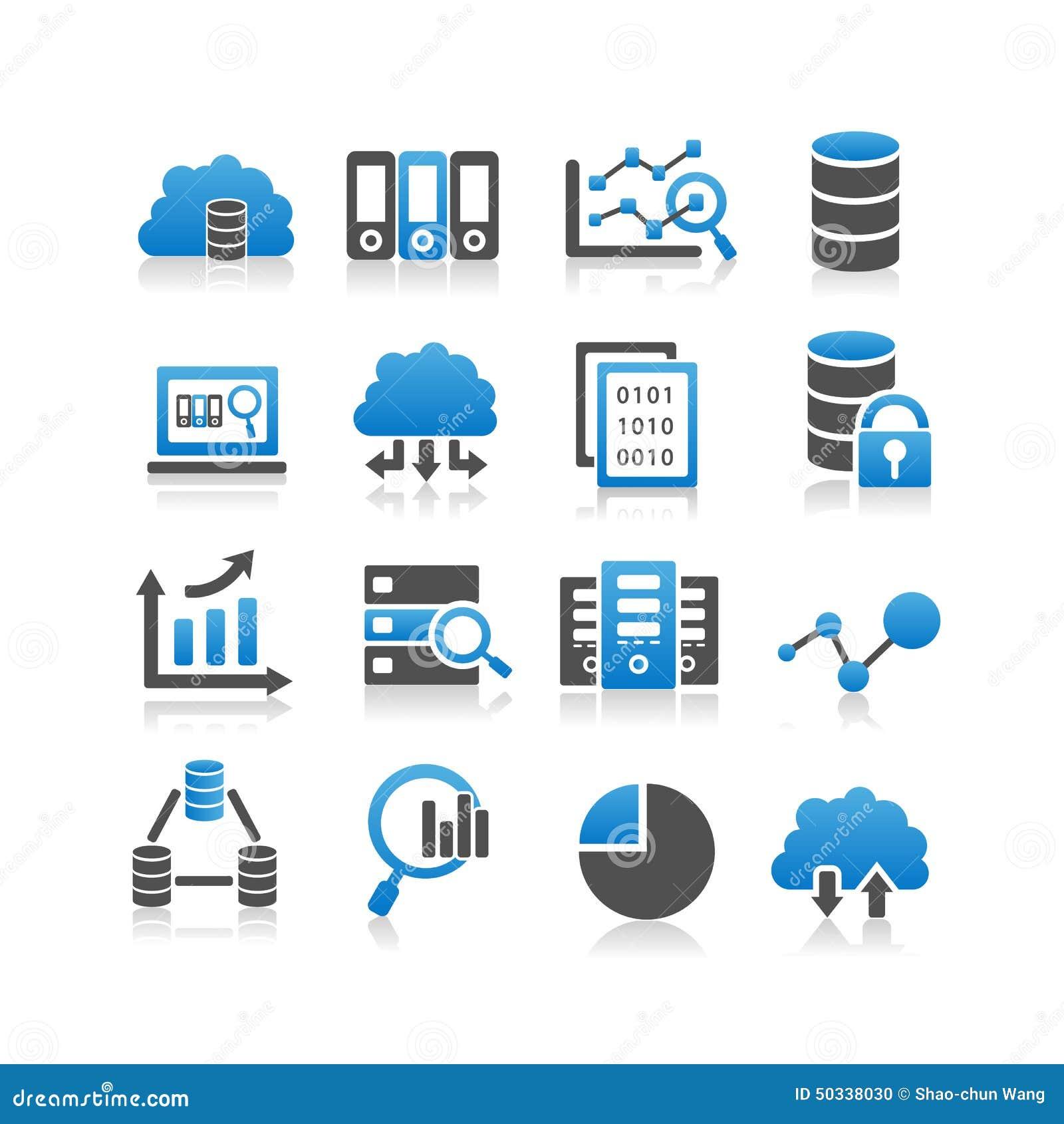 Große Datenikone