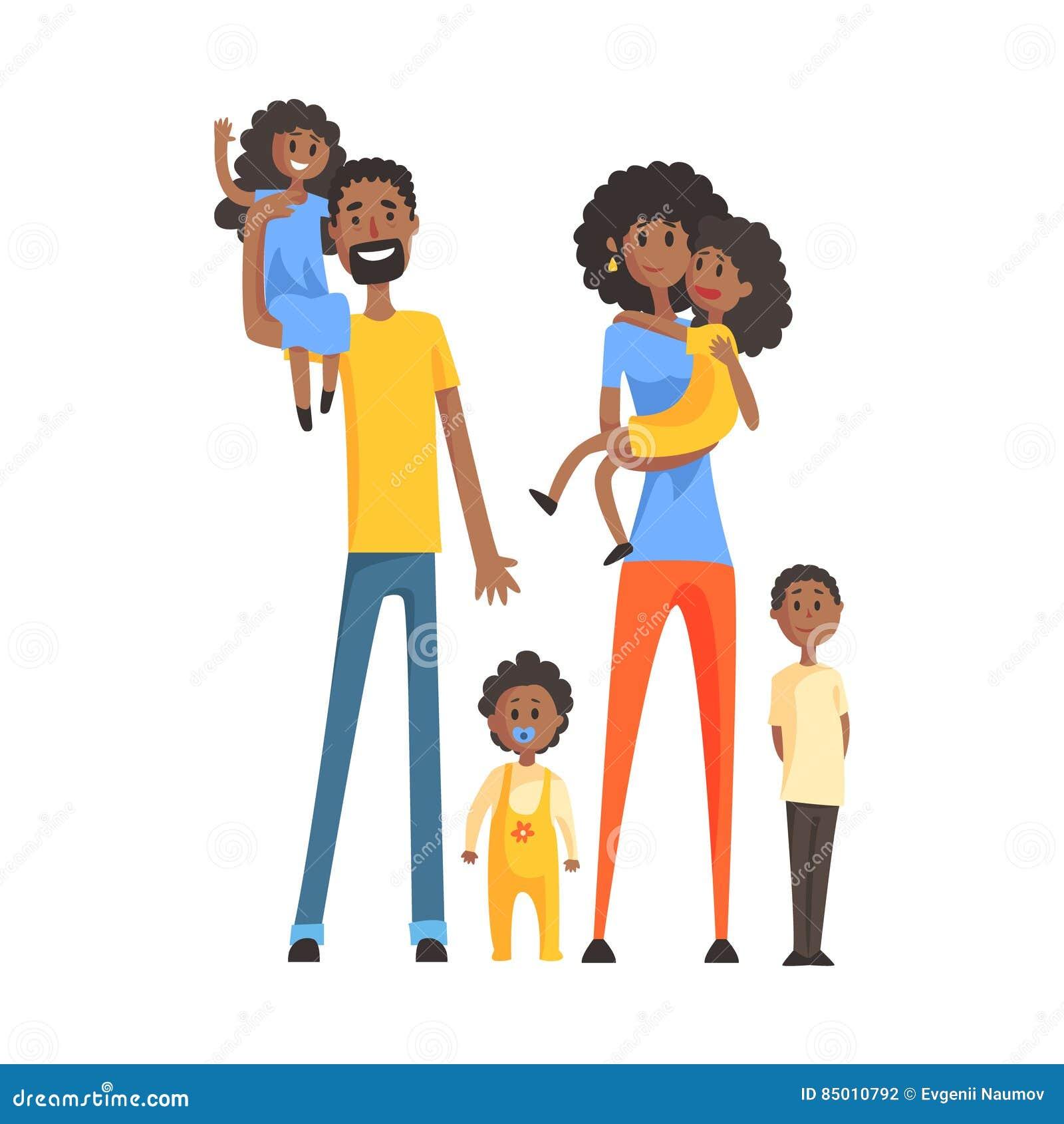 gro e familie mit eltern und vier kindern teil. Black Bedroom Furniture Sets. Home Design Ideas