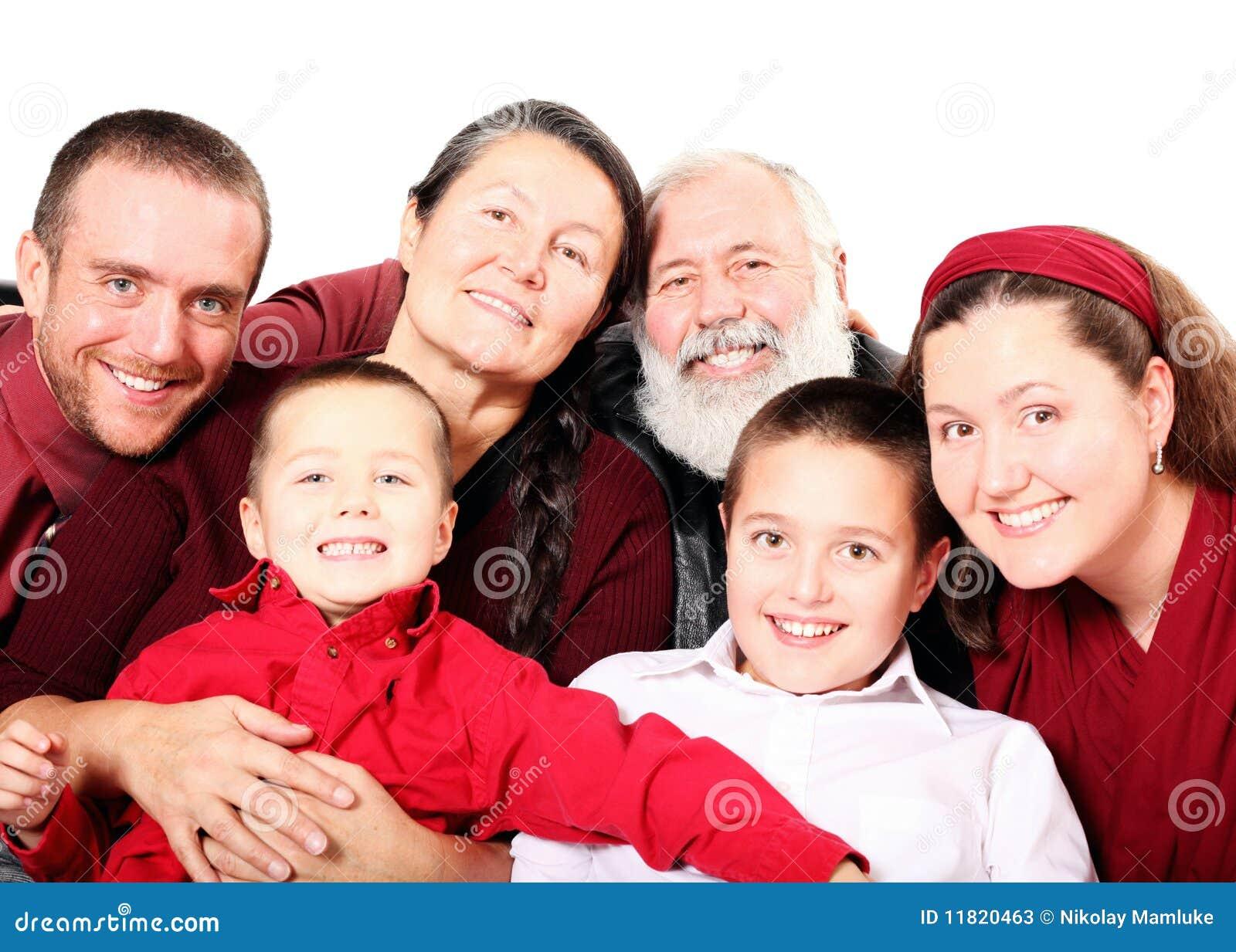 Große Feiertagsfamilie