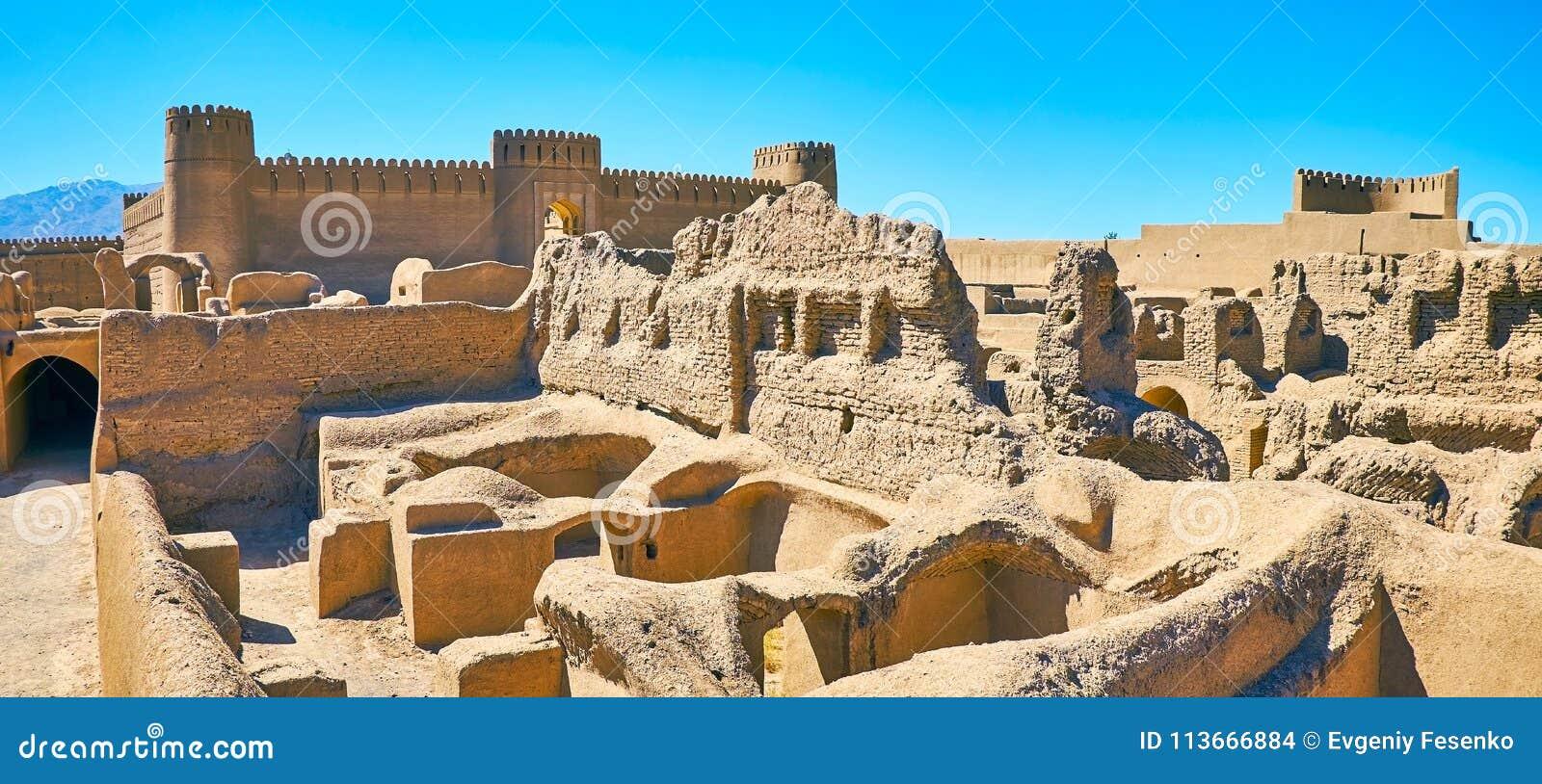 Große Gebäude von alten Zeiten, Rayen, der Iran