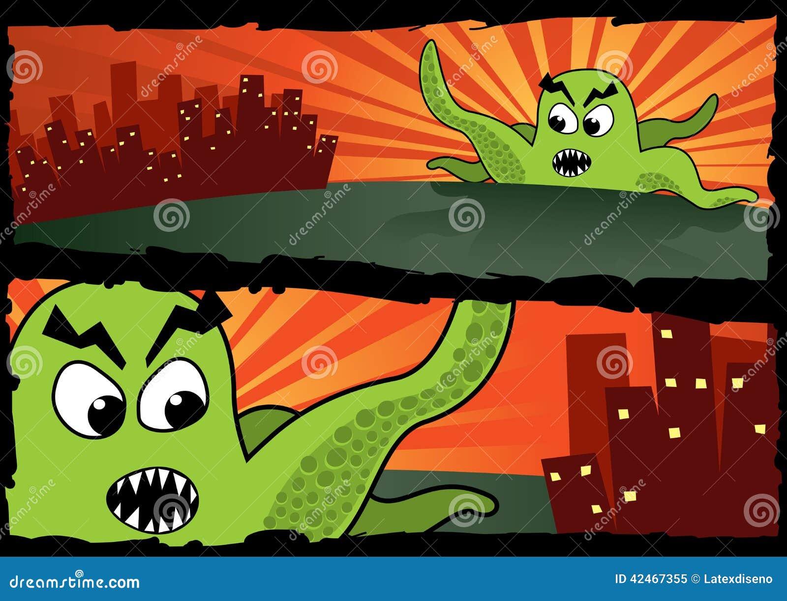 Große grüne Monster-Fahnen