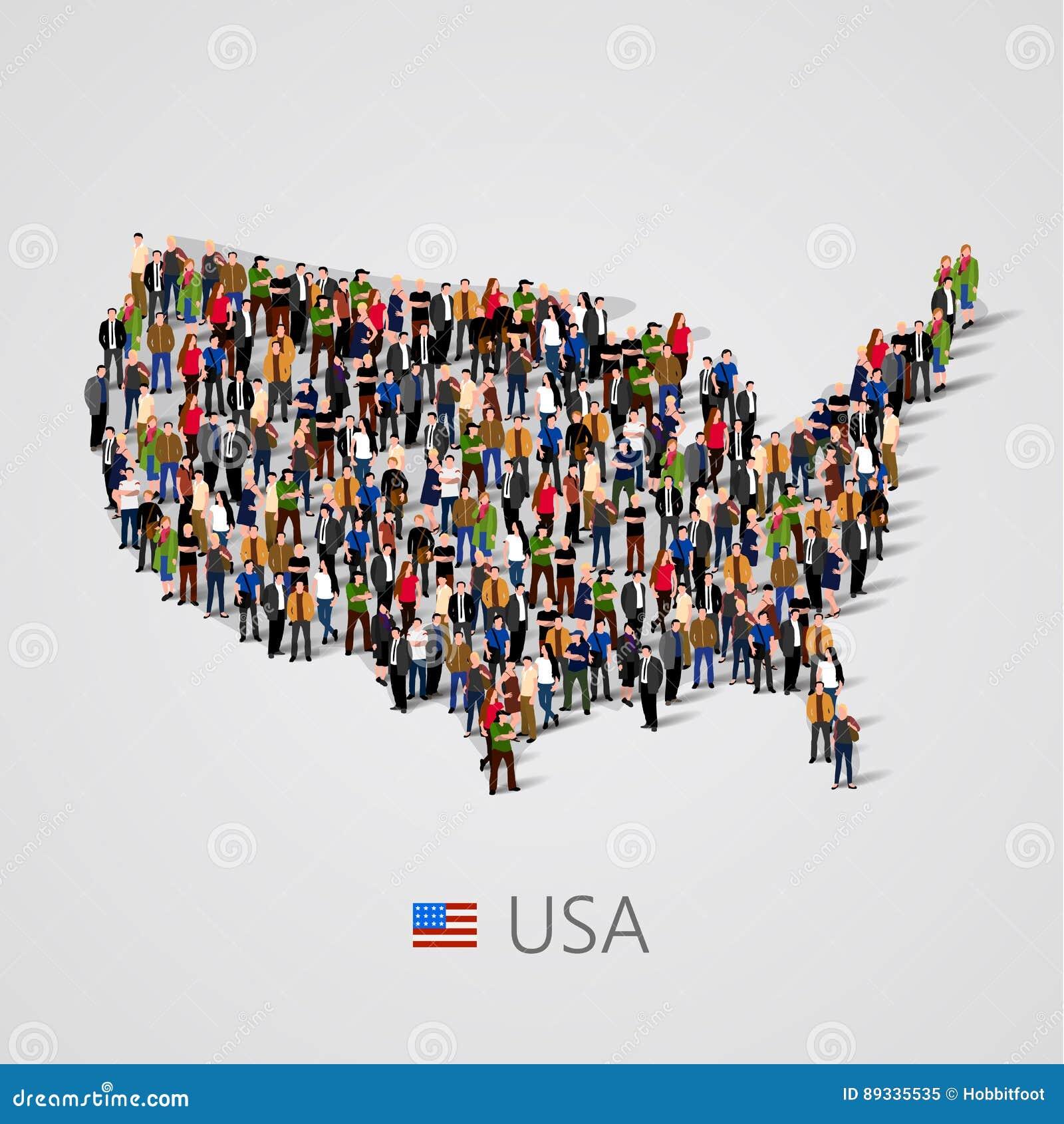 Grosse Gruppe Von Personen In Den Vereinigten Staaten Von Amerika