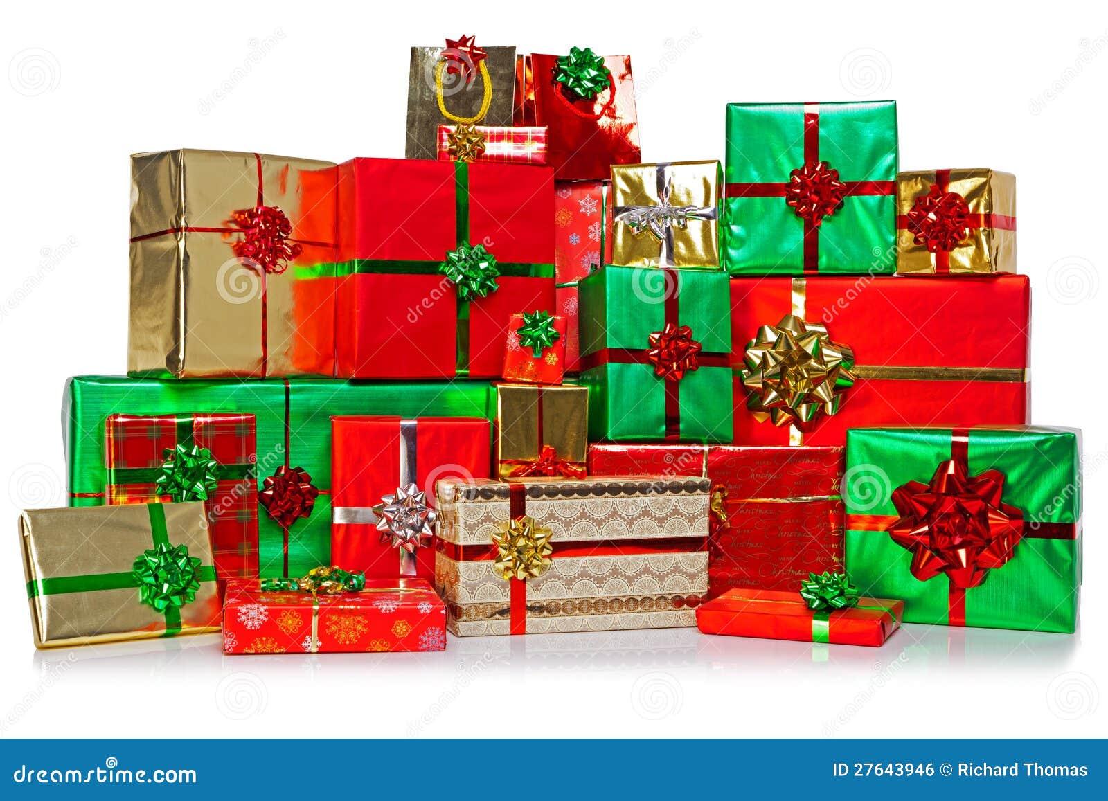 gro e gruppe weihnachtsgeschenke lizenzfreies stockbild. Black Bedroom Furniture Sets. Home Design Ideas