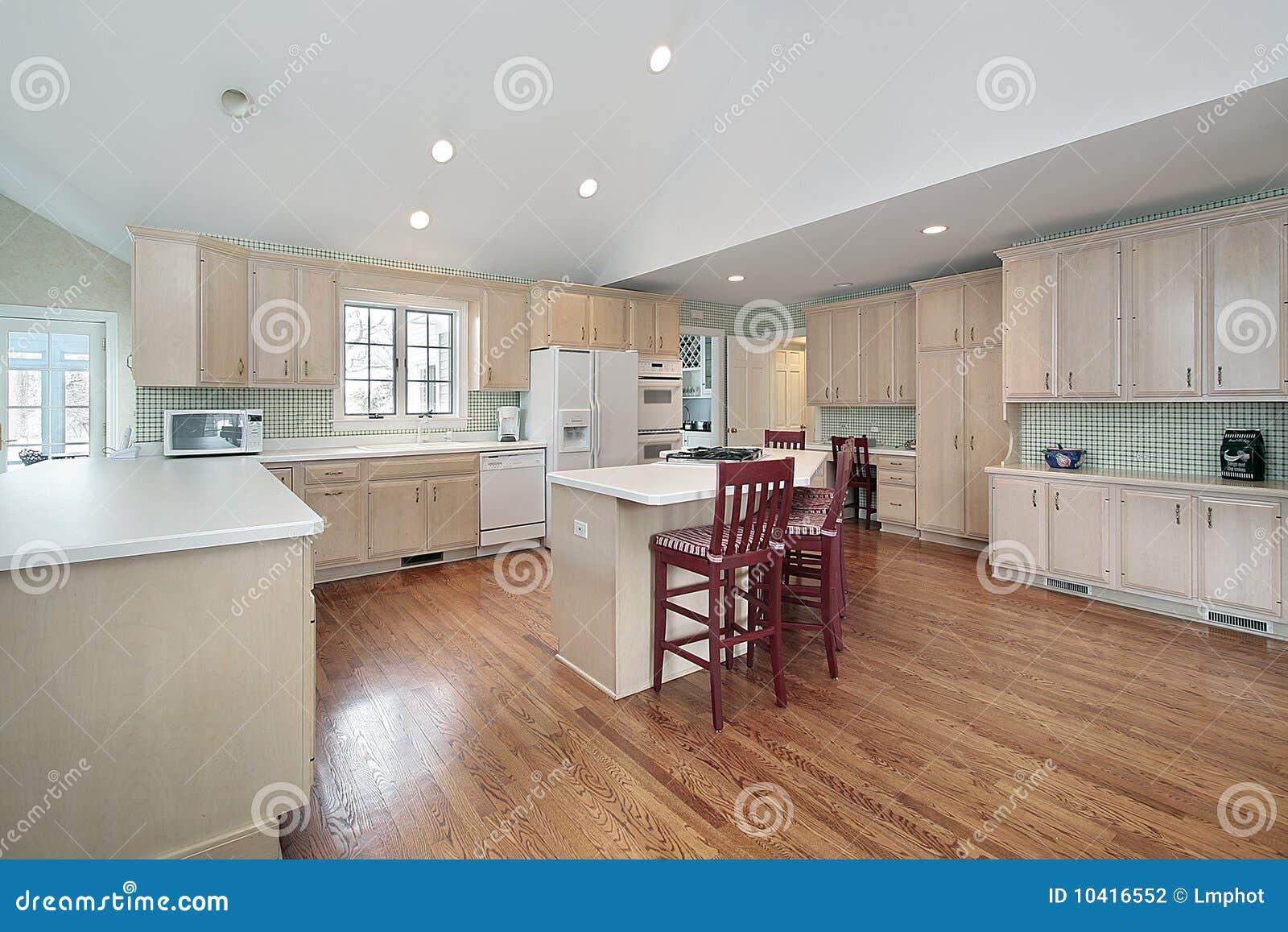 Große küche im vorstadthaus stockfotografie bild 10416552