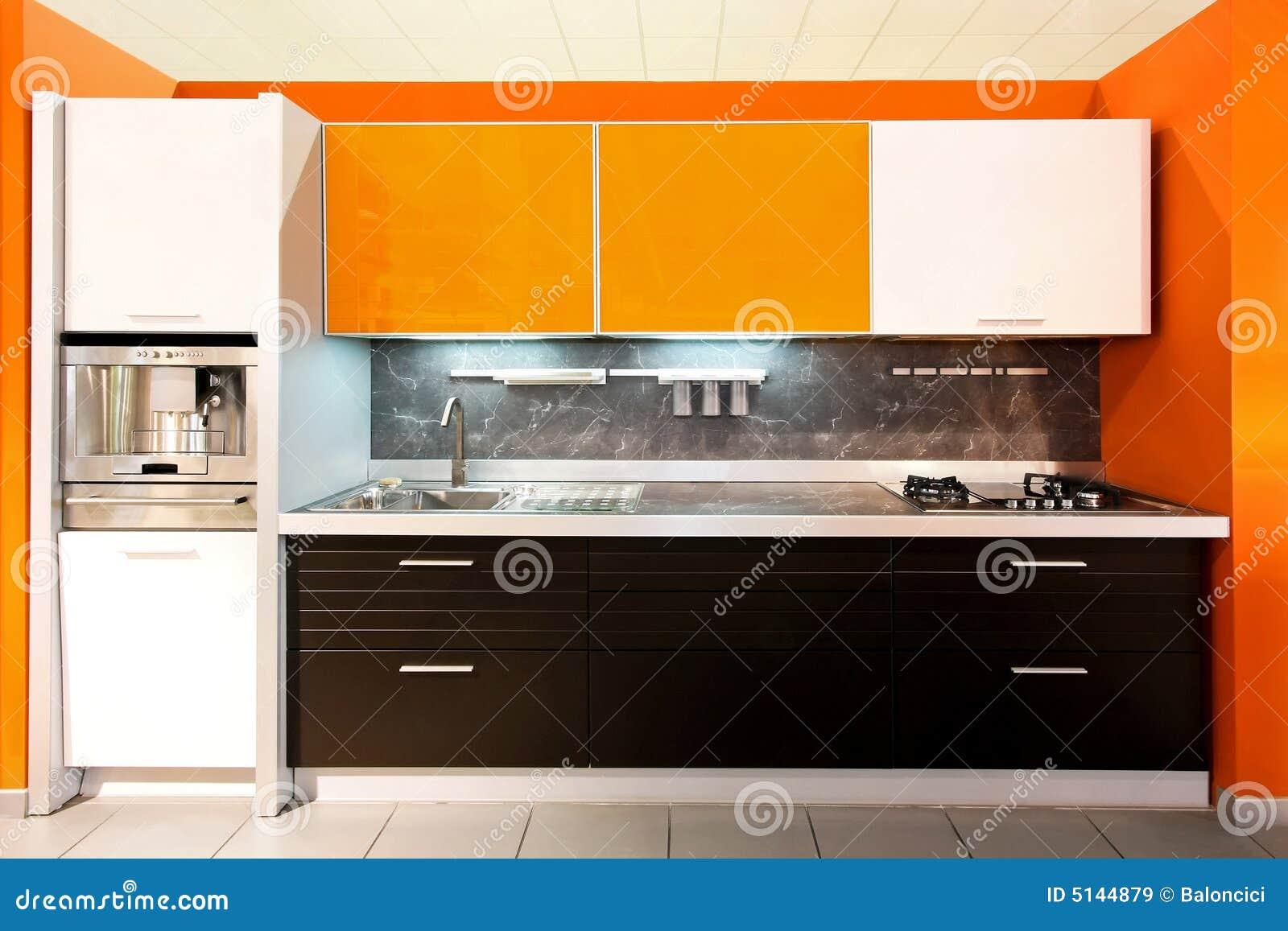 große orange der küche lizenzfreie stockbilder - bild: 5144879, Modernes haus