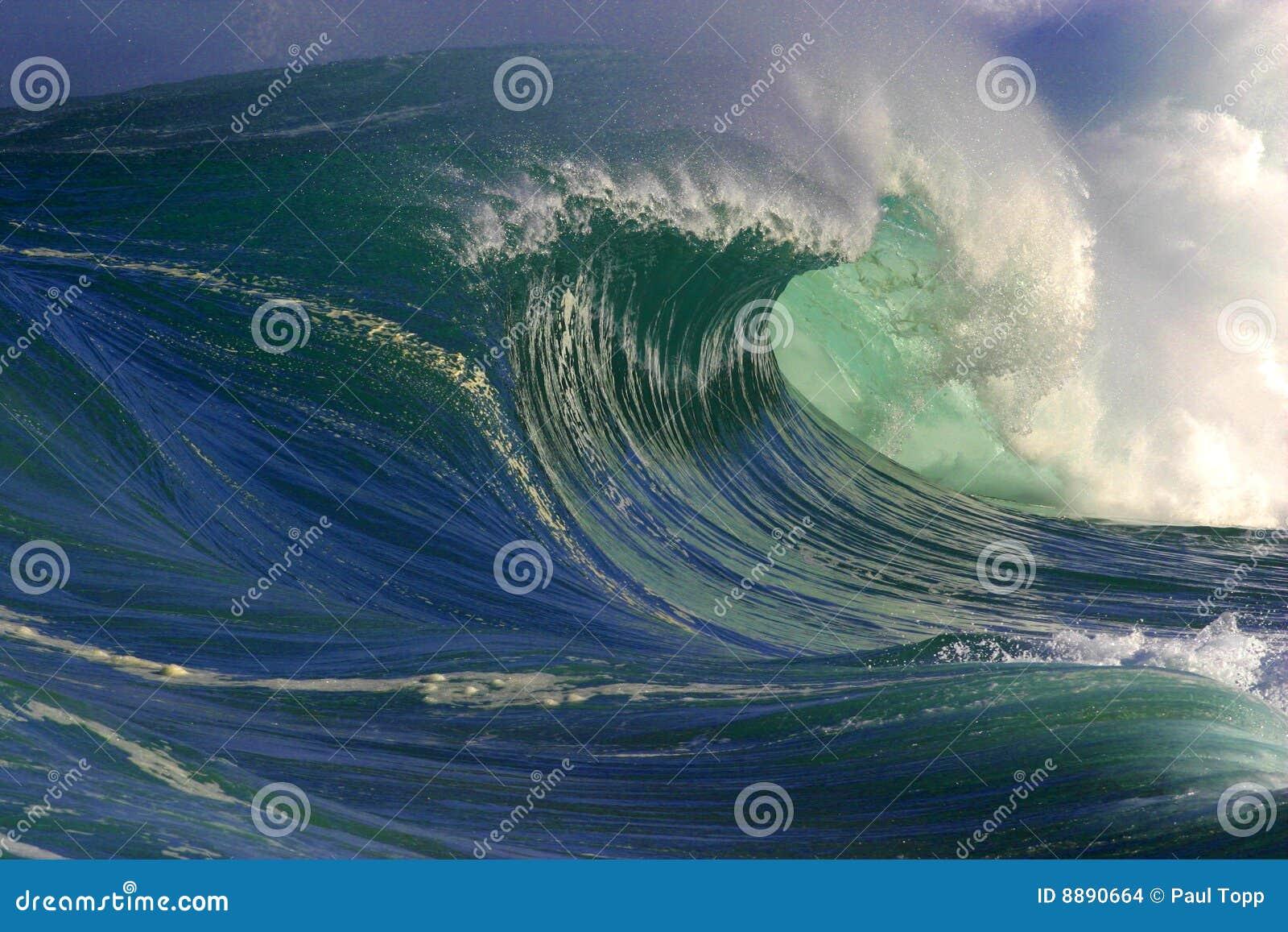 Große Ozean-Welle in Hawaii