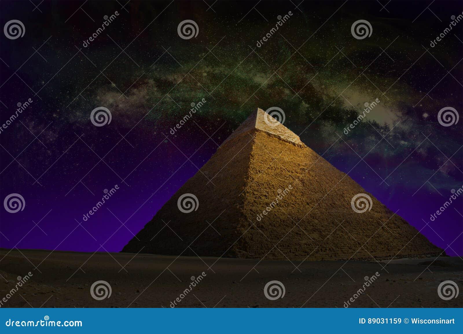 Große Pyramide, Ägypten, Himmel-Sterne