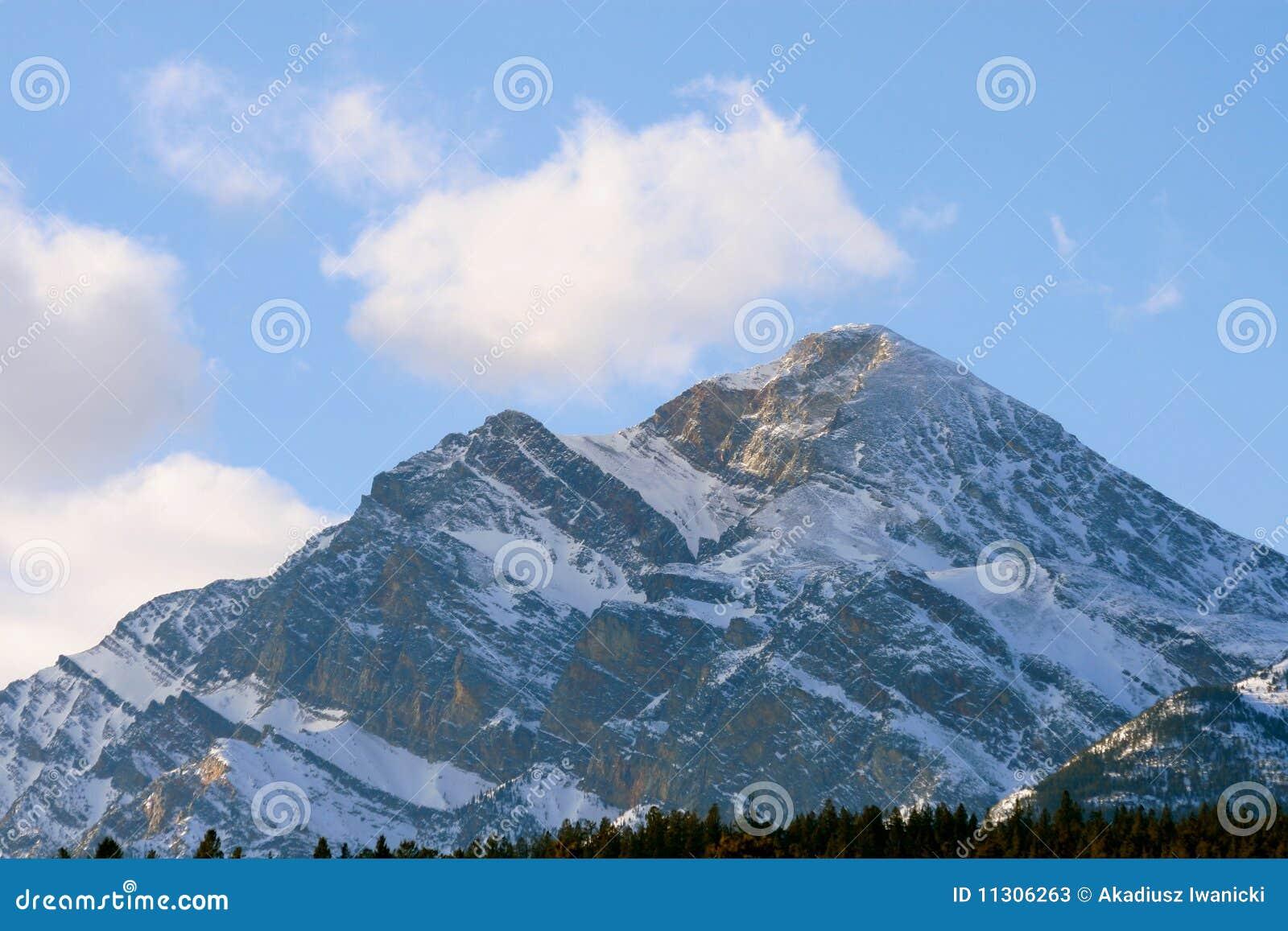 Großer Felsen, kanadische Rockies
