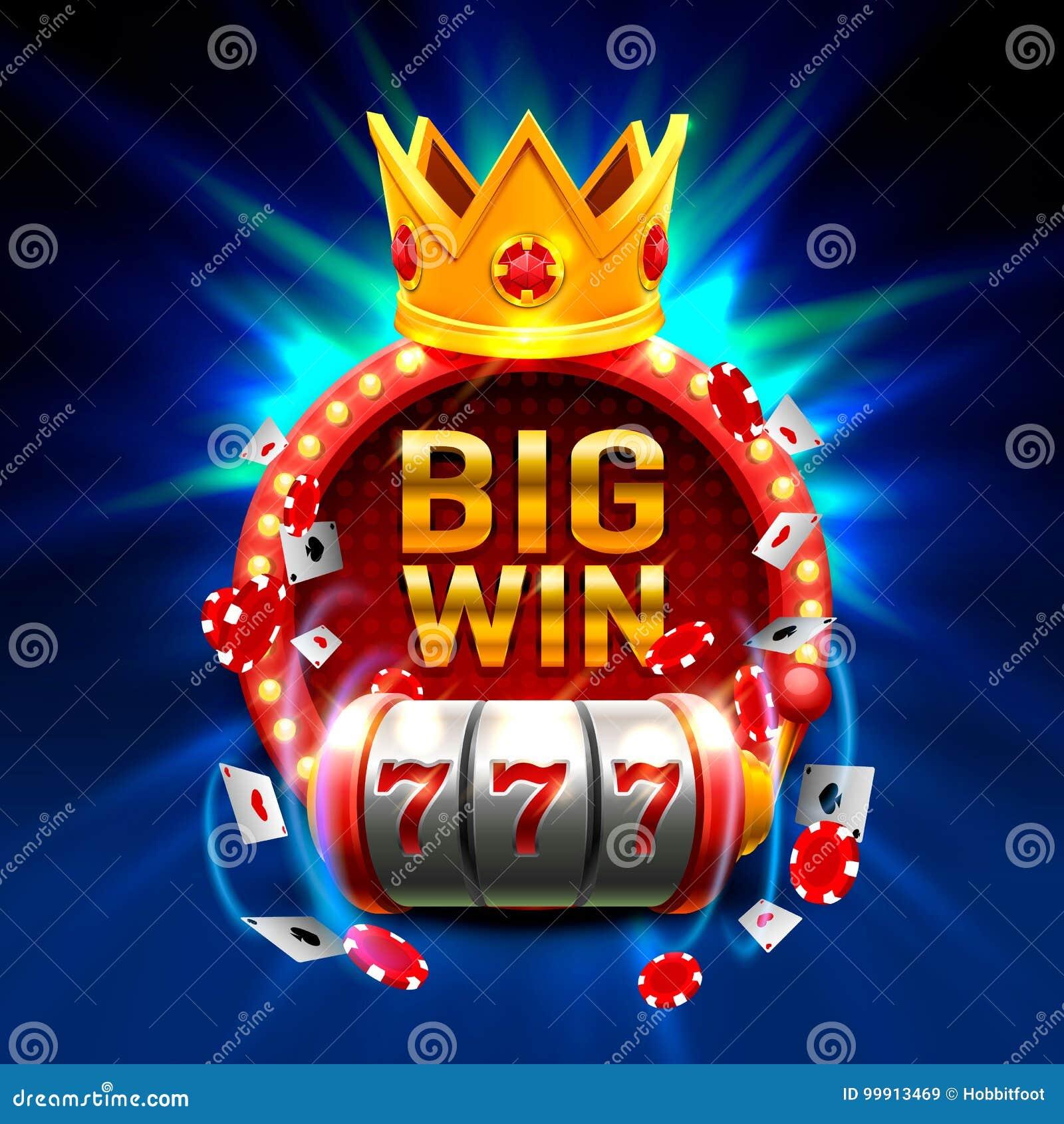 Großer Gewinn kerbt das Kasino mit 777 Fahnen