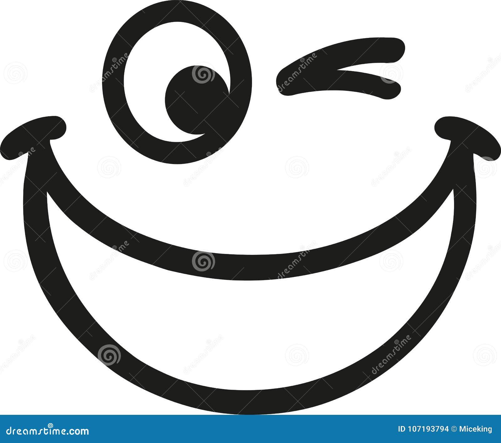Großer Lachender Smiley Vektor Abbildung Illustration Von Lächeln