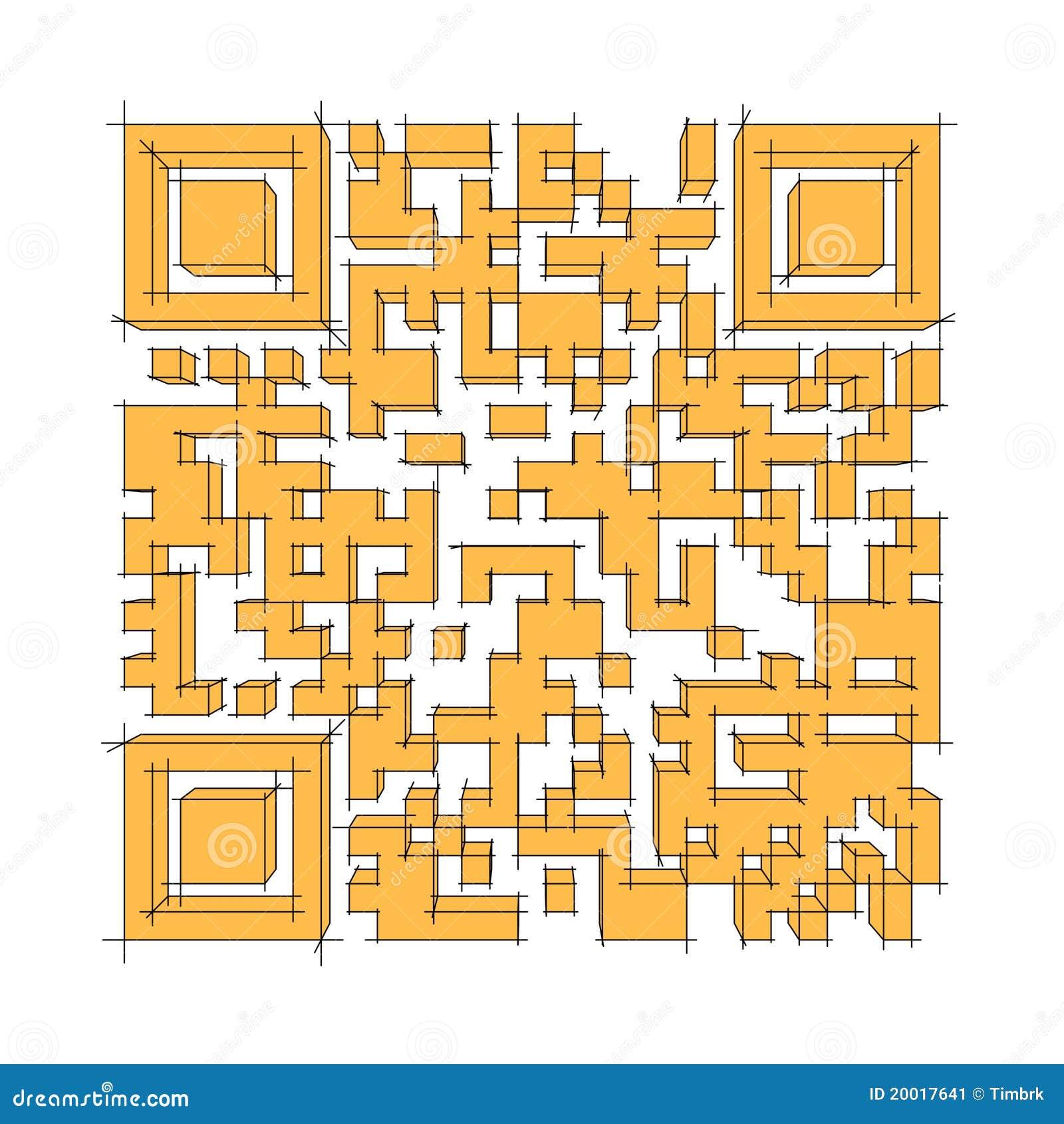 Großer Qr Code Stock Abbildung Illustration Von Kennzeichen
