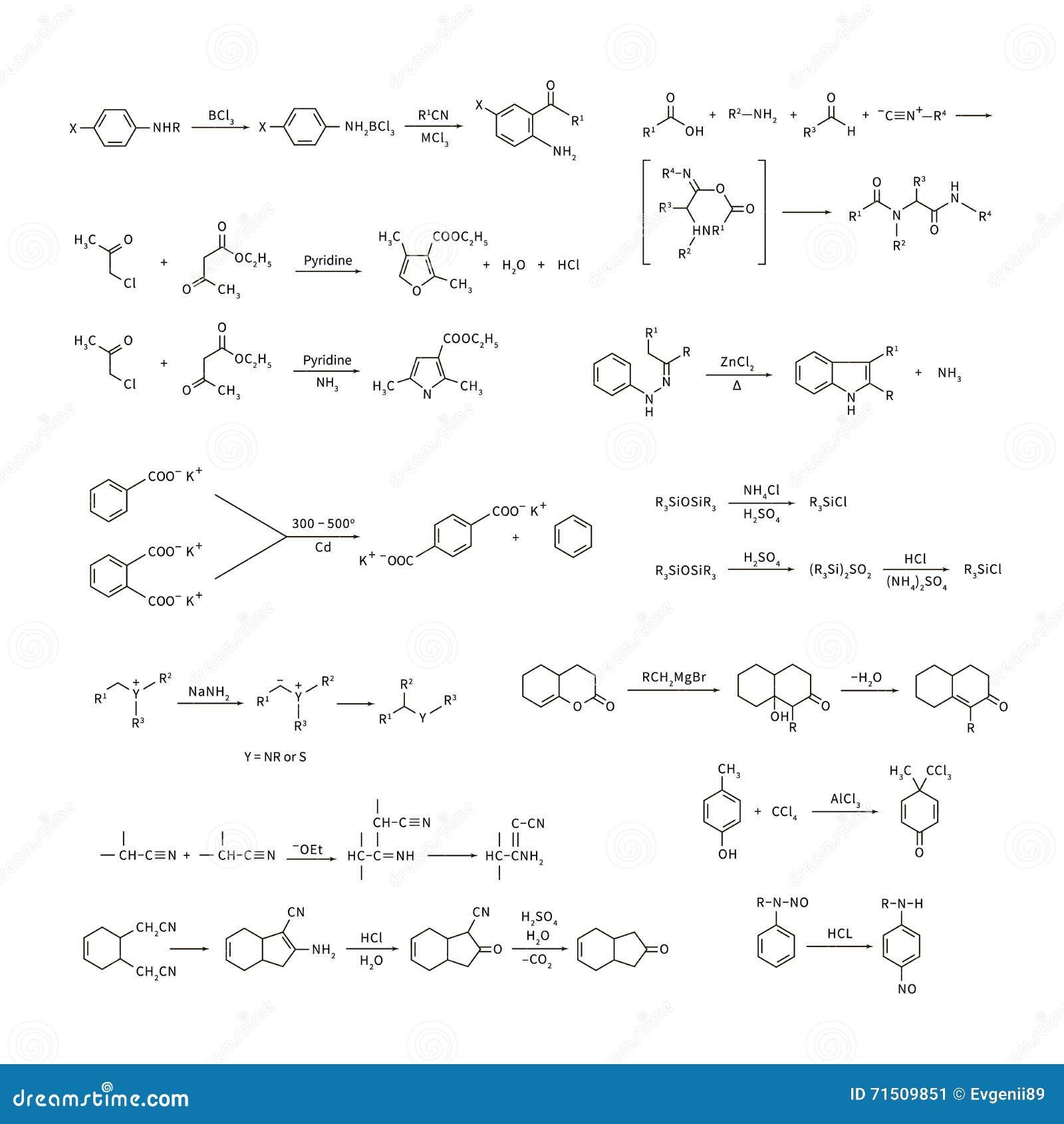 Großer Satz Grundlegende Gleichungen Und Formeln Der Chemischen ...