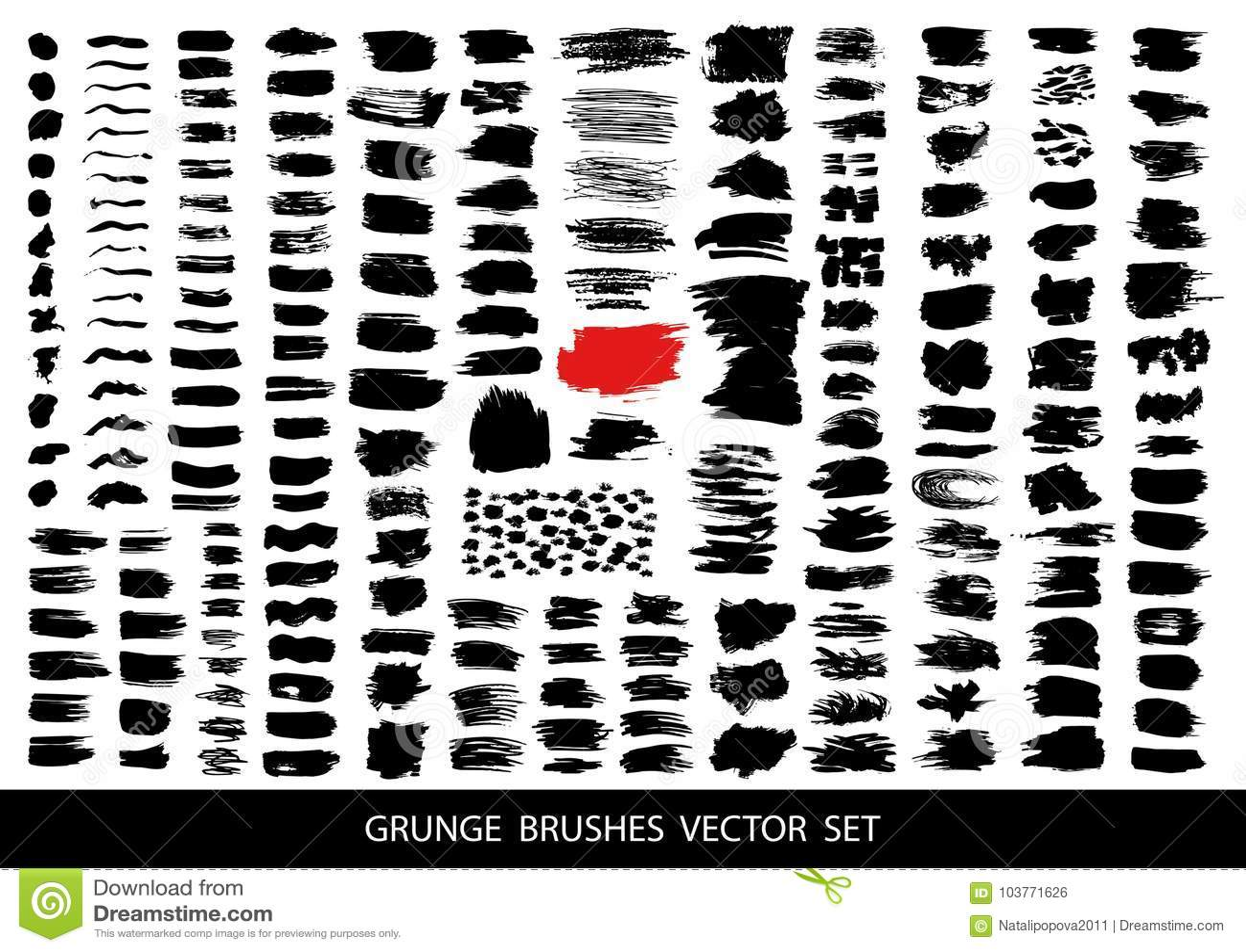 Großer Satz schwarze Farbe, Tintenbürstenanschläge, Bürsten, Linien Schmutzige künstlerische Gestaltungselemente, Kästen, Rahmen