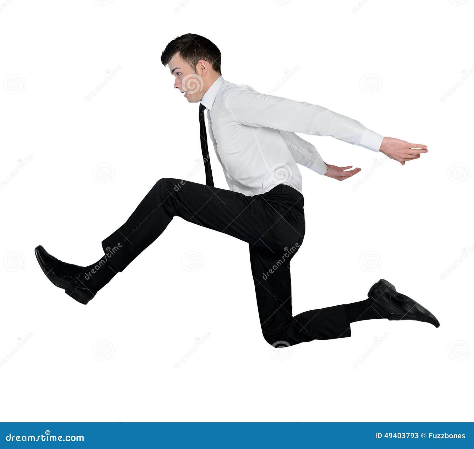 Download Großer Sprung Des Geschäftsmannes Stockbild - Bild von leute, energie: 49403793