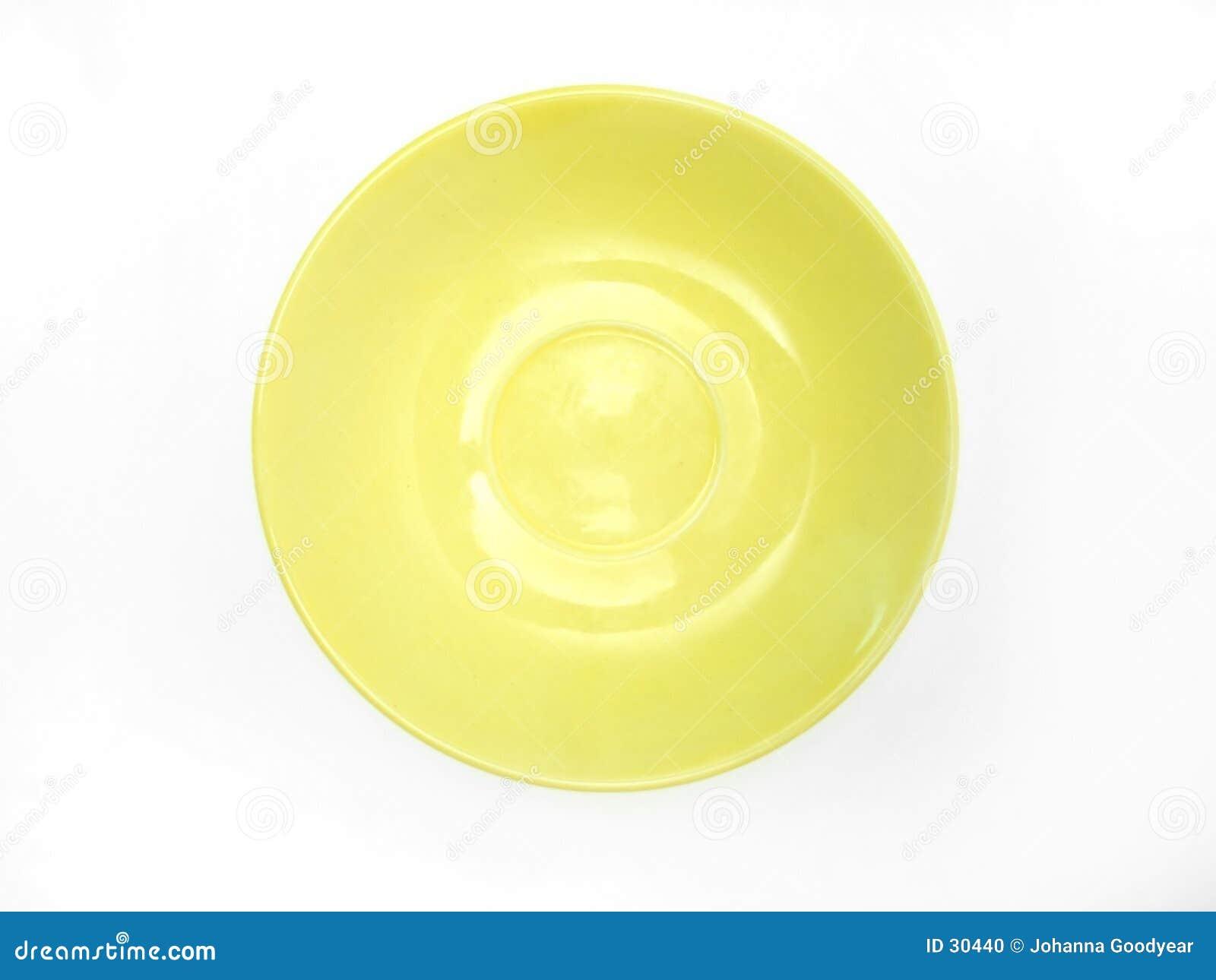 Download Großer Teller stockfoto. Bild von gelb, abendessen, frühstück - 30440