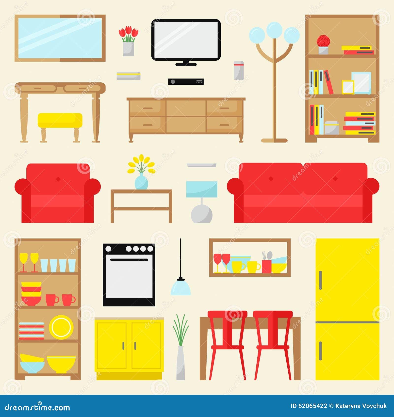Großer Wohnungsmöbelsatz Zeitgenössische Möbel Für Wohnzimmer ...