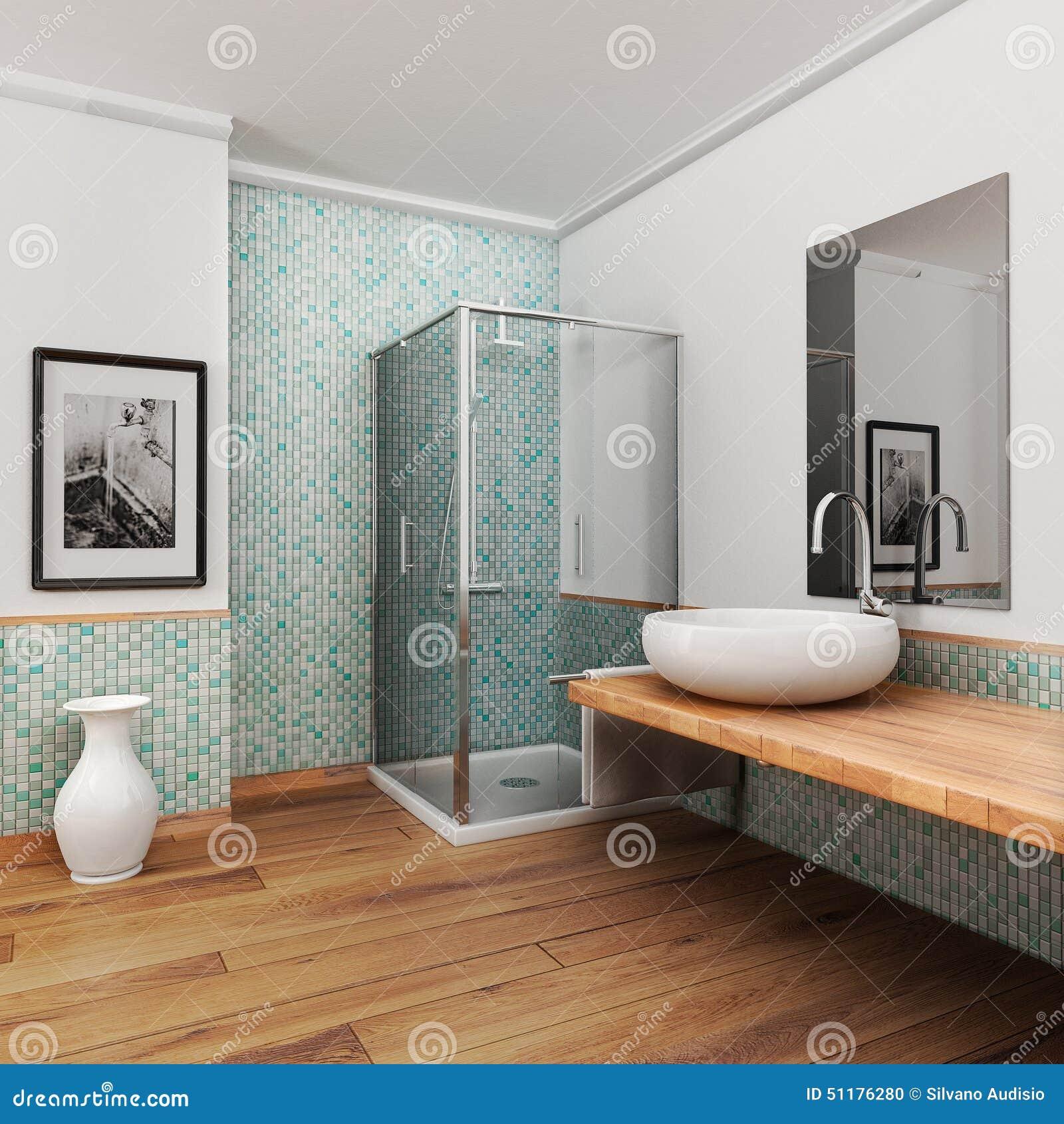 Großes Badezimmer stock abbildung. Illustration von auslegung - 51176280