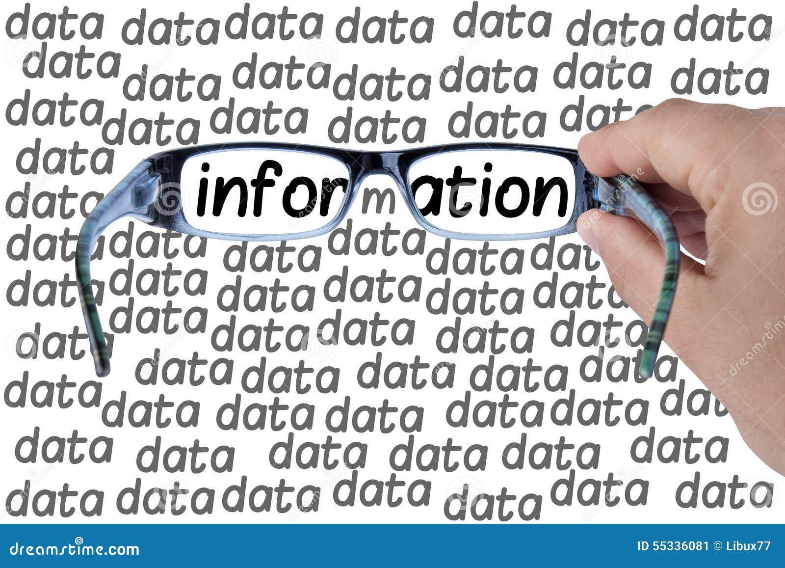 Großes Daten-Informations-Glas-Suchen lokalisiert