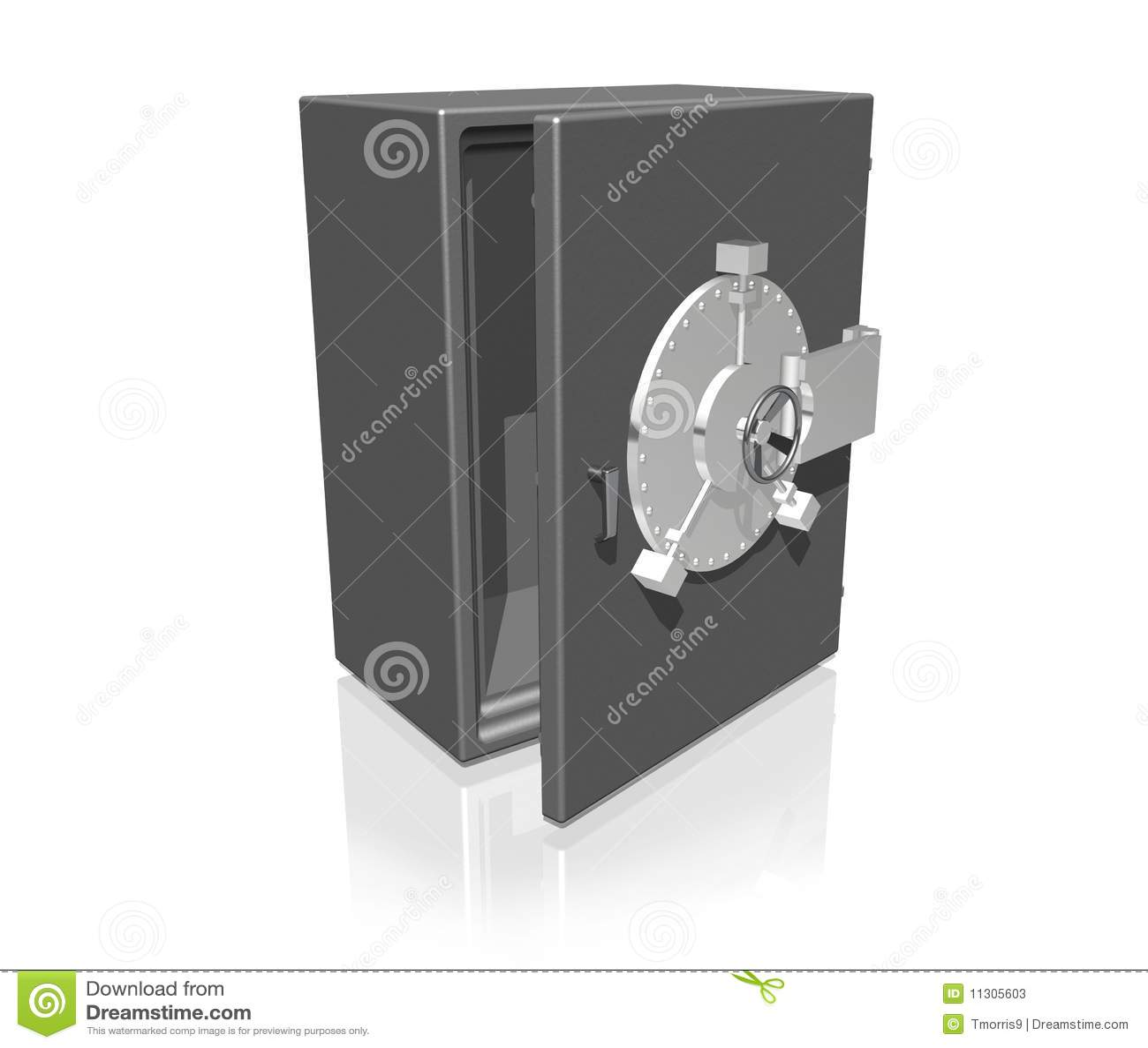 Großes Safe etwas geöffnet