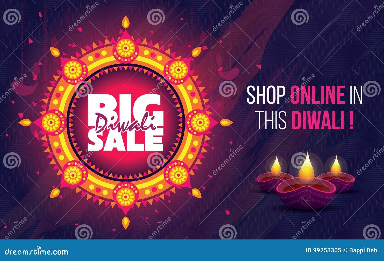 Großes Verkauf Diwali-Plakat