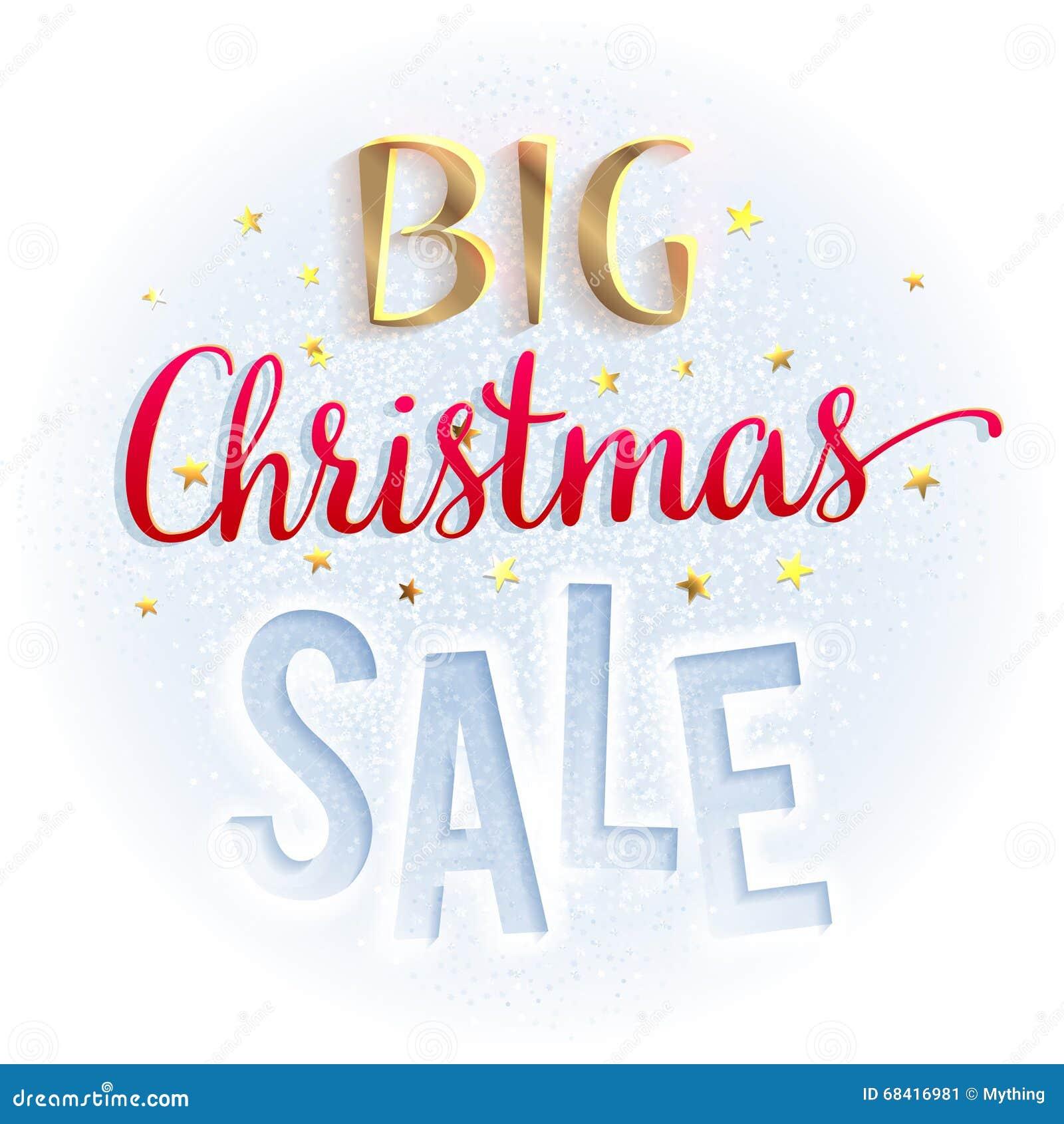 Großes Weihnachtsverkaufszeichen, Hell Und Bunt Entwerfen Sie ...