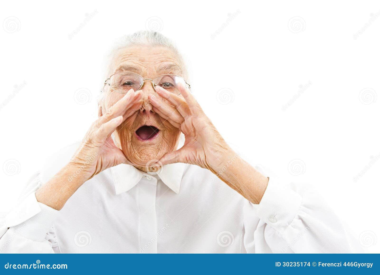 Lustige Großmutter