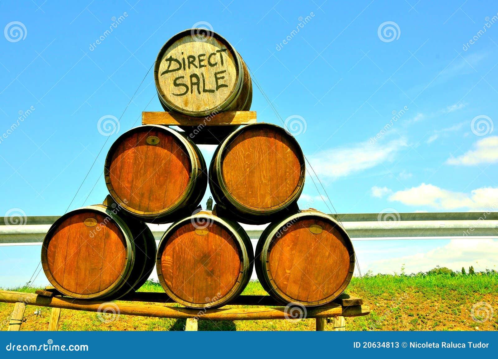 Großverkauf des Weins in Italien