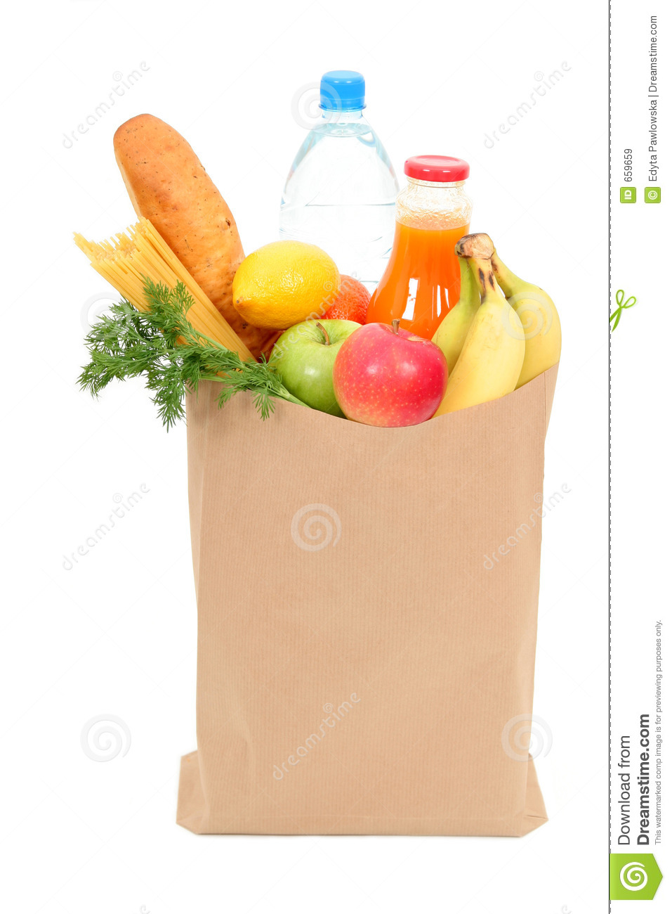 Grocery Bag Stock Image Image Of Bottle Market Filled 659659
