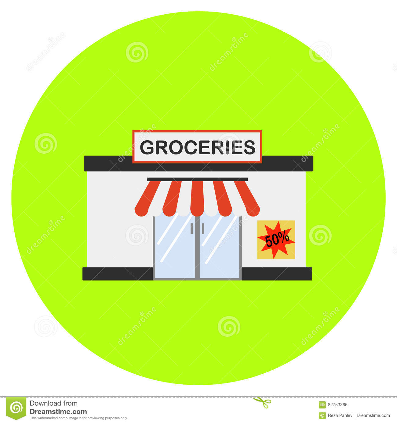 Grocery icon in trendy flat style isolated on grey background grocery icon in trendy flat style isolated on grey background building symbol for your design logo ui vector illustration eps biocorpaavc