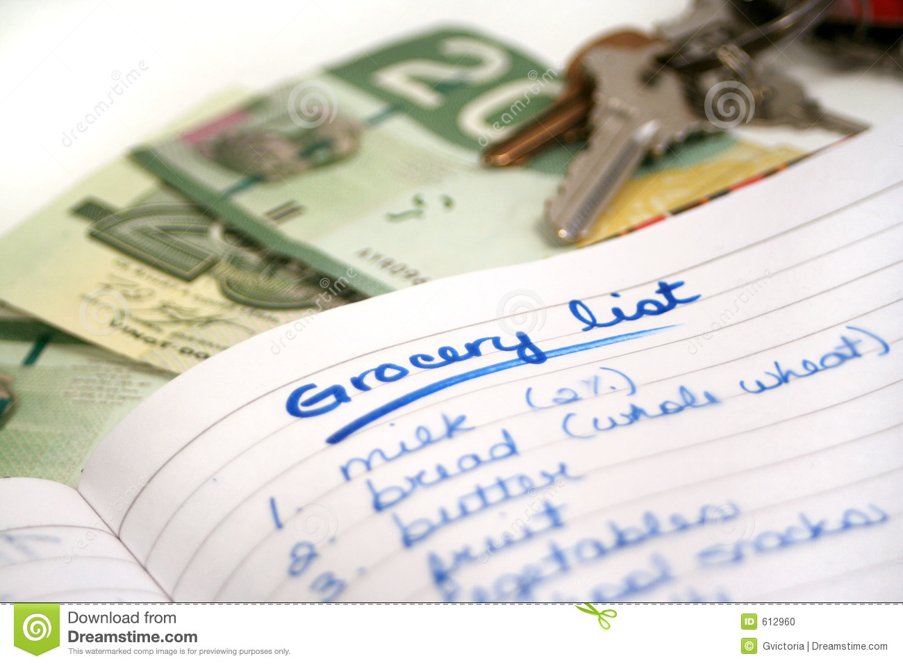 grocery list 2 stock photo image of finance dollars grocery 612960