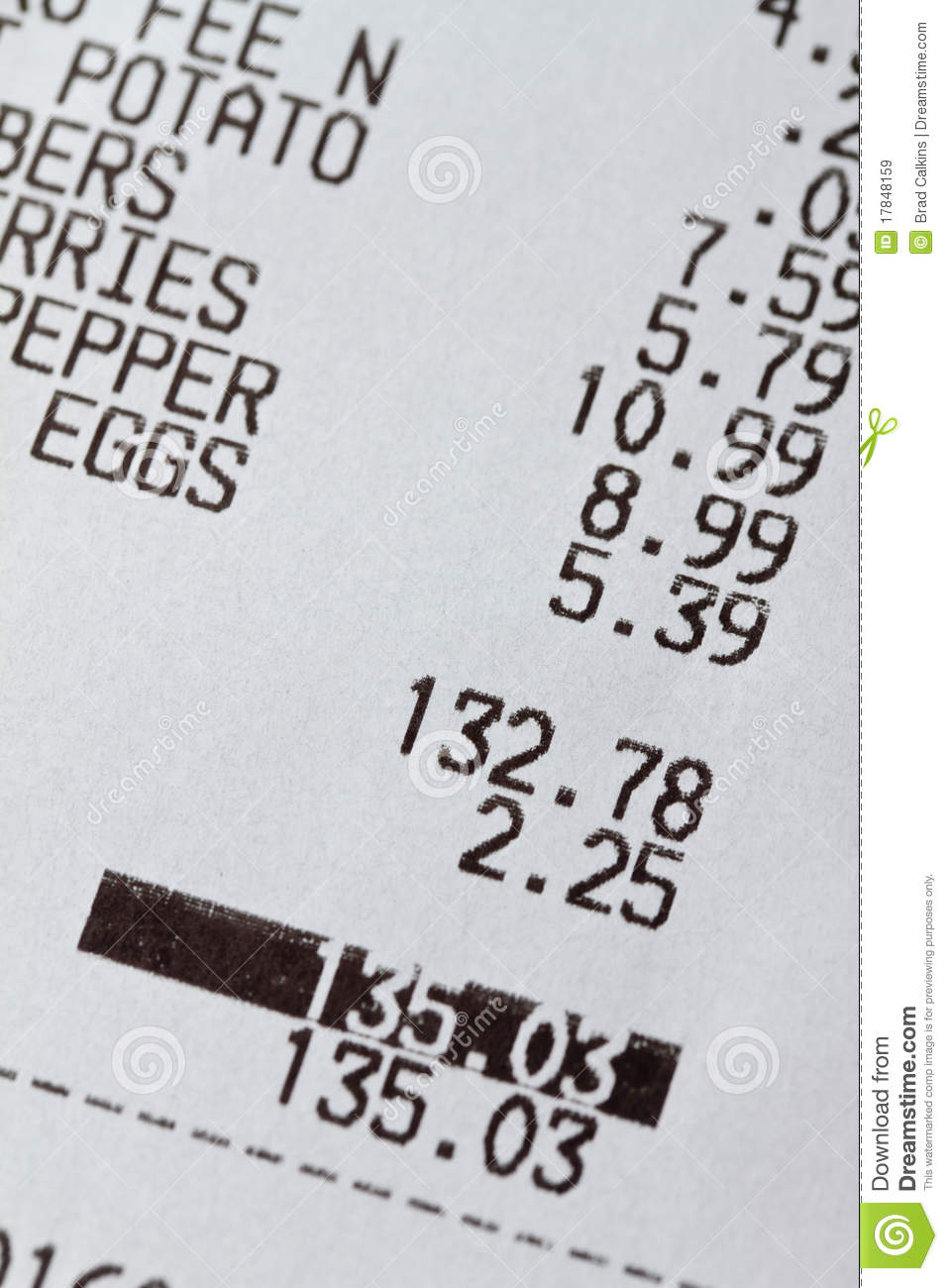 grocery receipt stock image image of pricing  eggs First Amendment Clip Art english bill of rights clipart