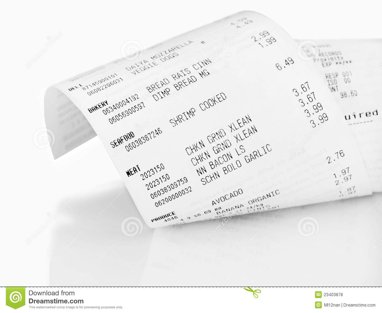 Grocery Receipt Royalty Free Stock Photos - Image: 23403878