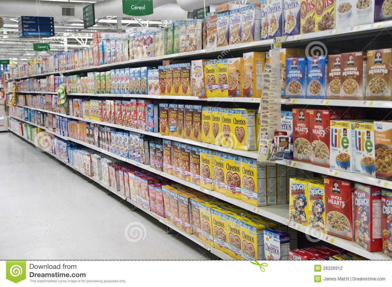 Grocery Store Cereal Shelves Editorial Photography Image Of Supermarket Market 26226912