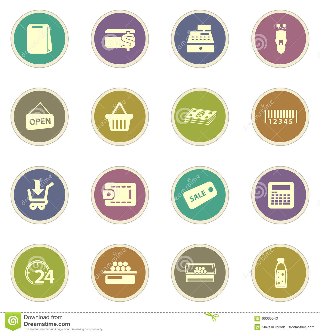 Grocery Store Icon Stock Photo - Image: 66065543