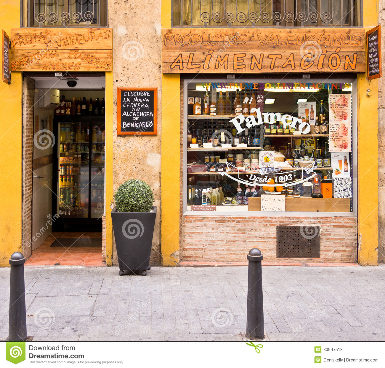 grocery store in valencia spain editorial stock photo image 30947518. Black Bedroom Furniture Sets. Home Design Ideas