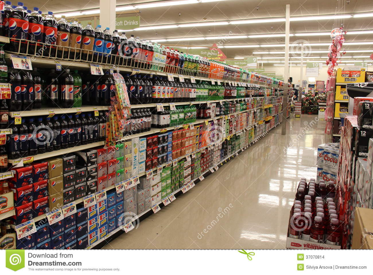 Grocery Store Soda Aisle