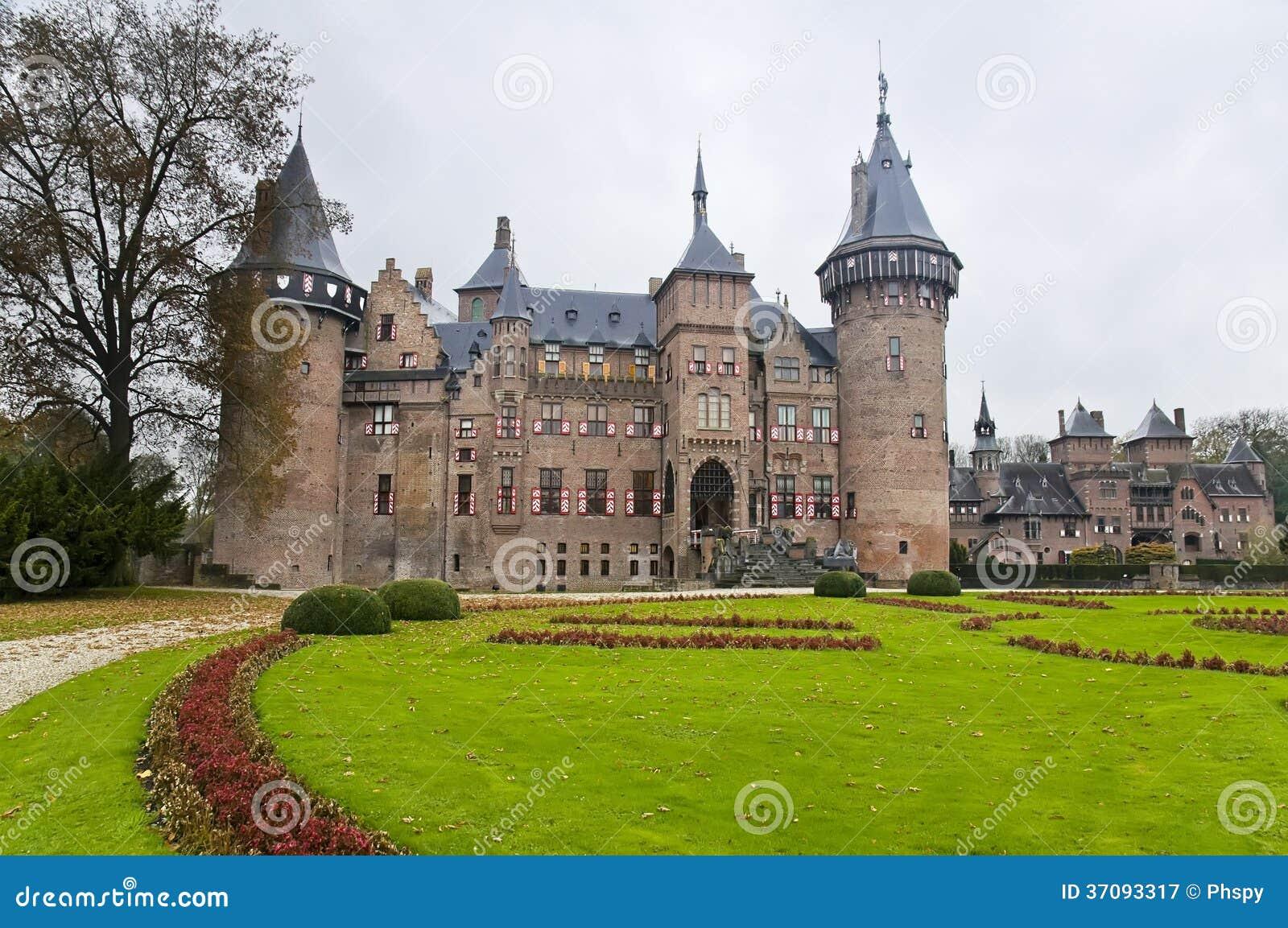Download Grodowy De Haar W Holandiach Obraz Stock - Obraz złożonej z kasztel, niebo: 37093317