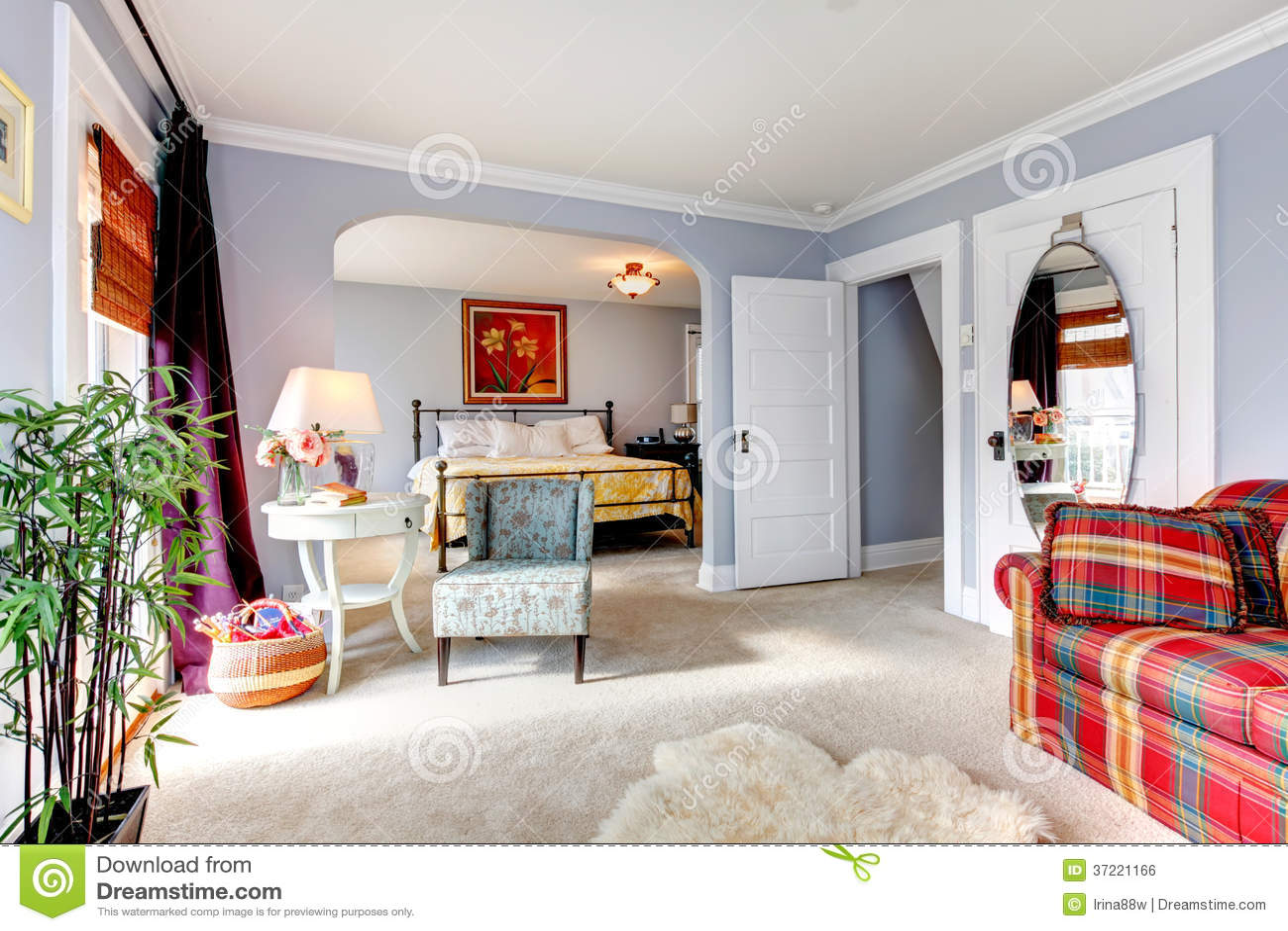 gro e designidee f r schlafzimmer und wohnzimmer lizenzfreies stockbild bild 37221166. Black Bedroom Furniture Sets. Home Design Ideas