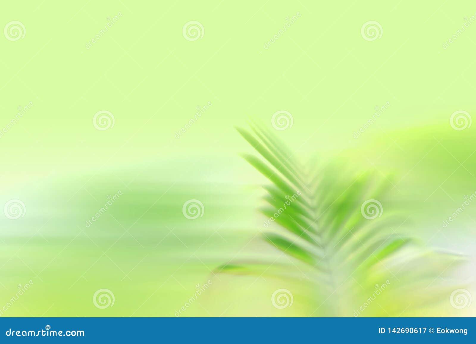 Groen bladonduidelijk beeld, aard zen achtergrond - het effect van de snelheidsmotie