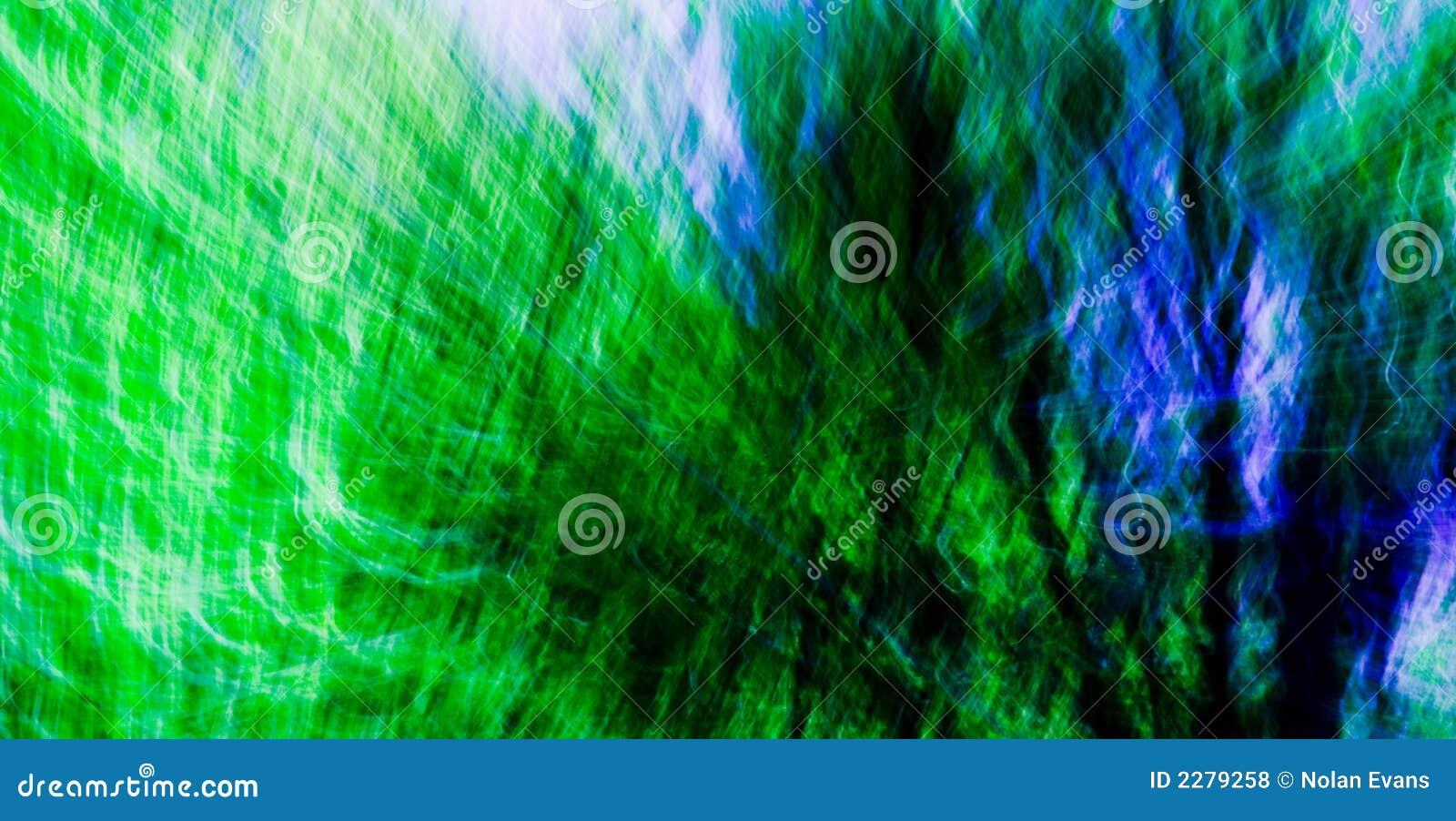 Groen/Blauw Mengsel Abstracte #2
