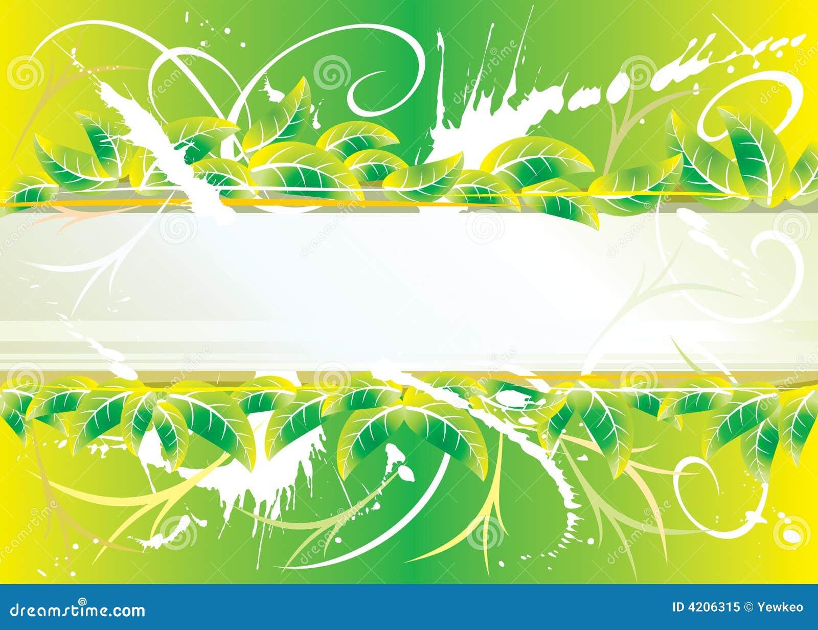 Groen bloemengrungeontwerp