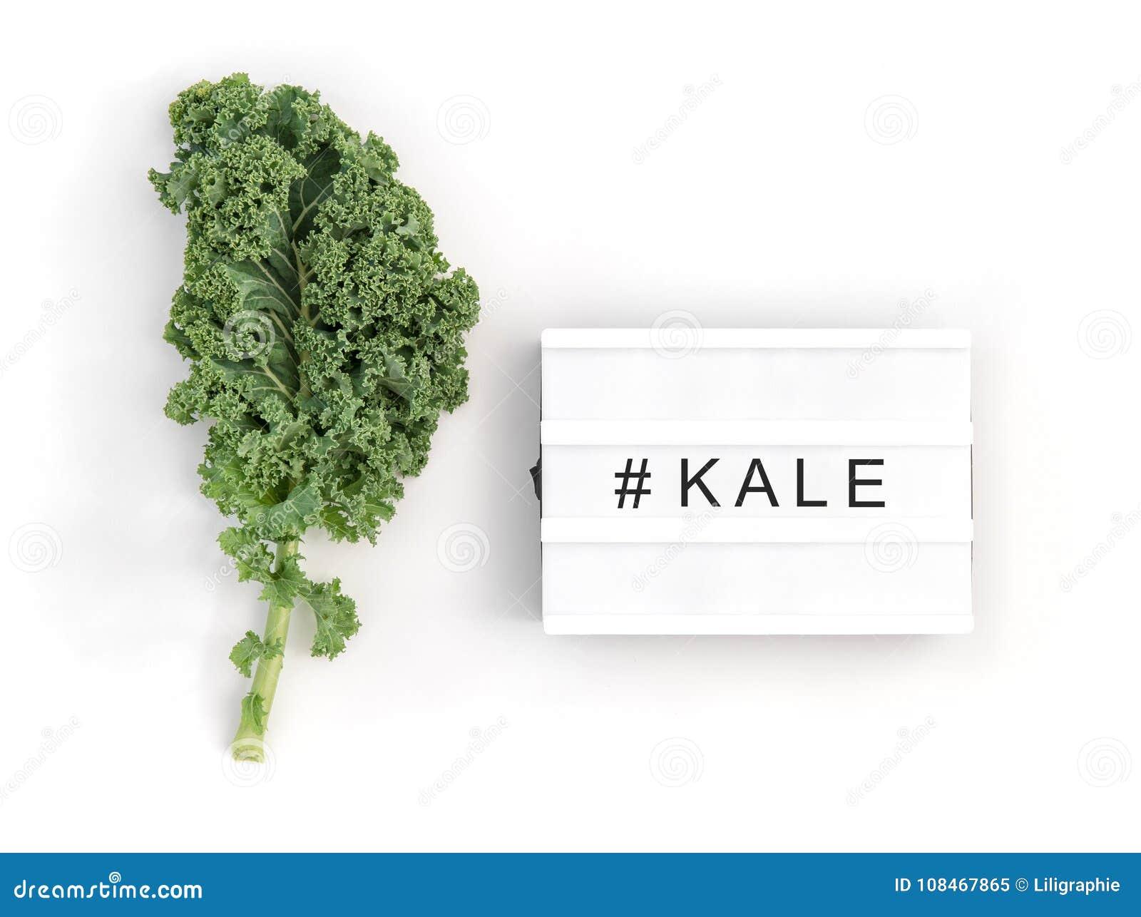 Groen boerenkoolblad Gezond het eten Super voedsel